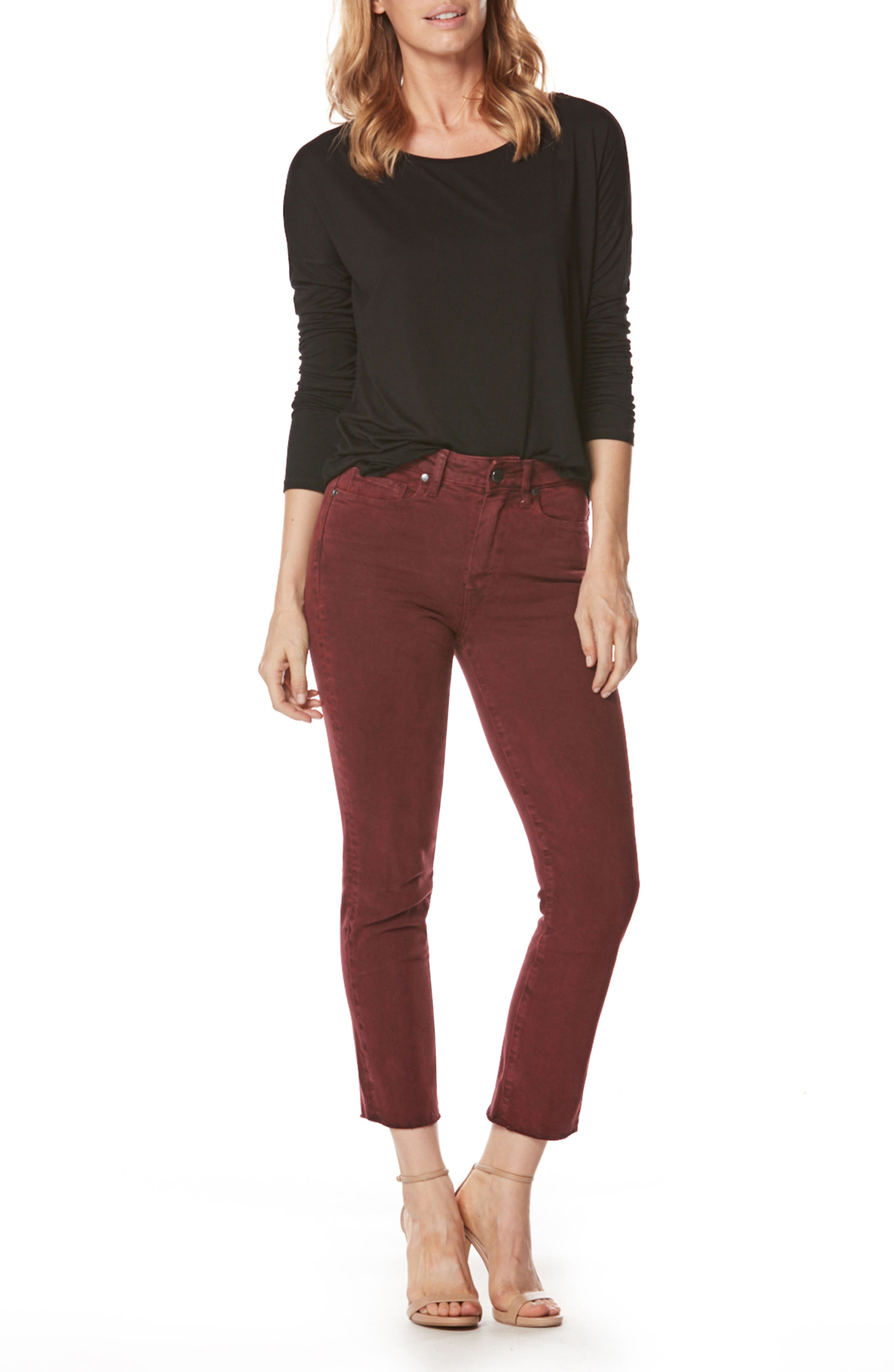 Alternate Image 2  - PAIGE Jacqueline High Waist Crop Straight Leg Jeans