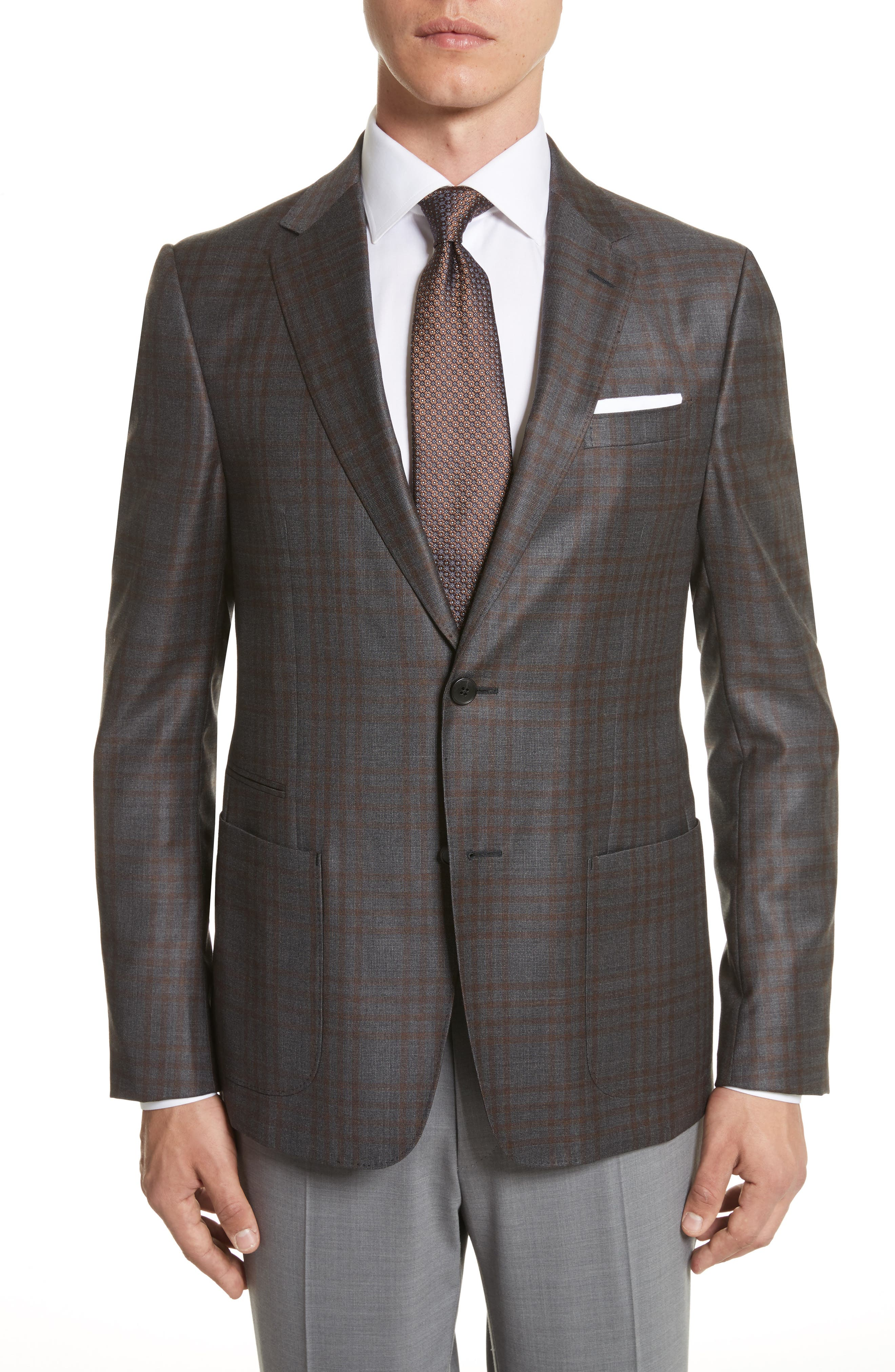 Main Image - Z Zegna Trim Fit Check Wool Sport Coat