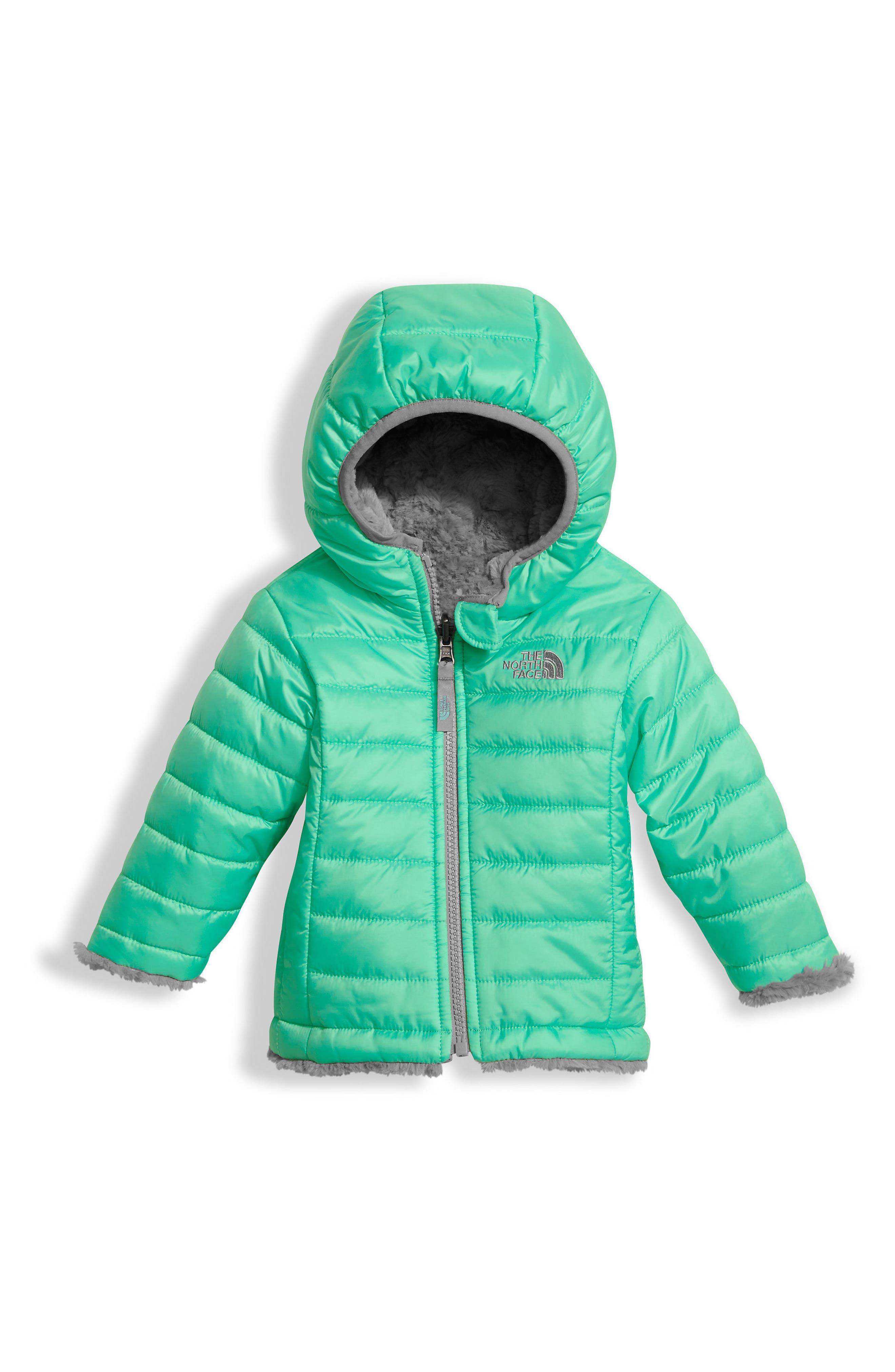 'Mossbud' Reversible Water Repellent Jacket,                         Main,                         color, Bermuda Green