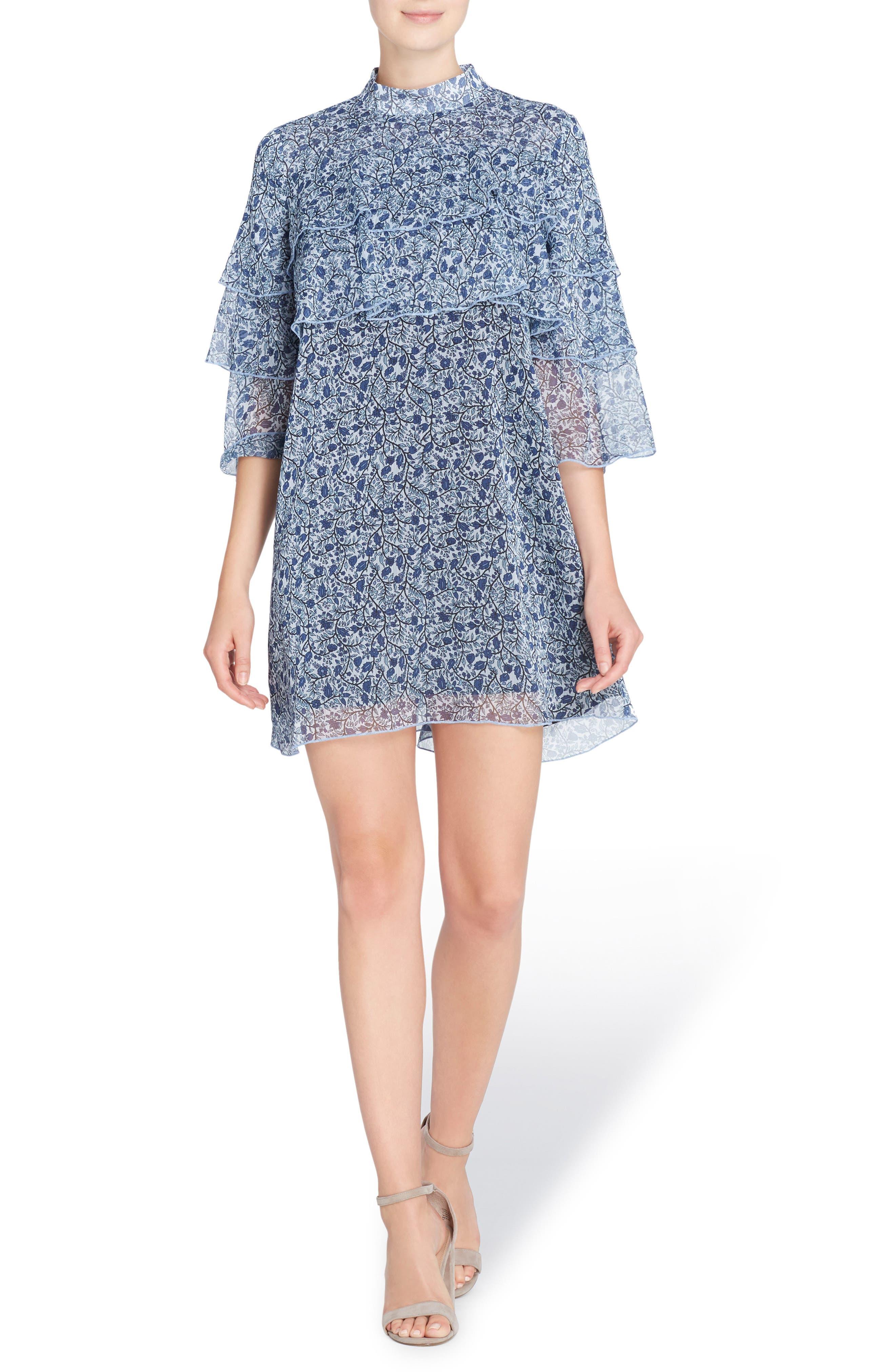 Main Image - Catherine Catherine Malandrino Cass Print Chiffon Dress