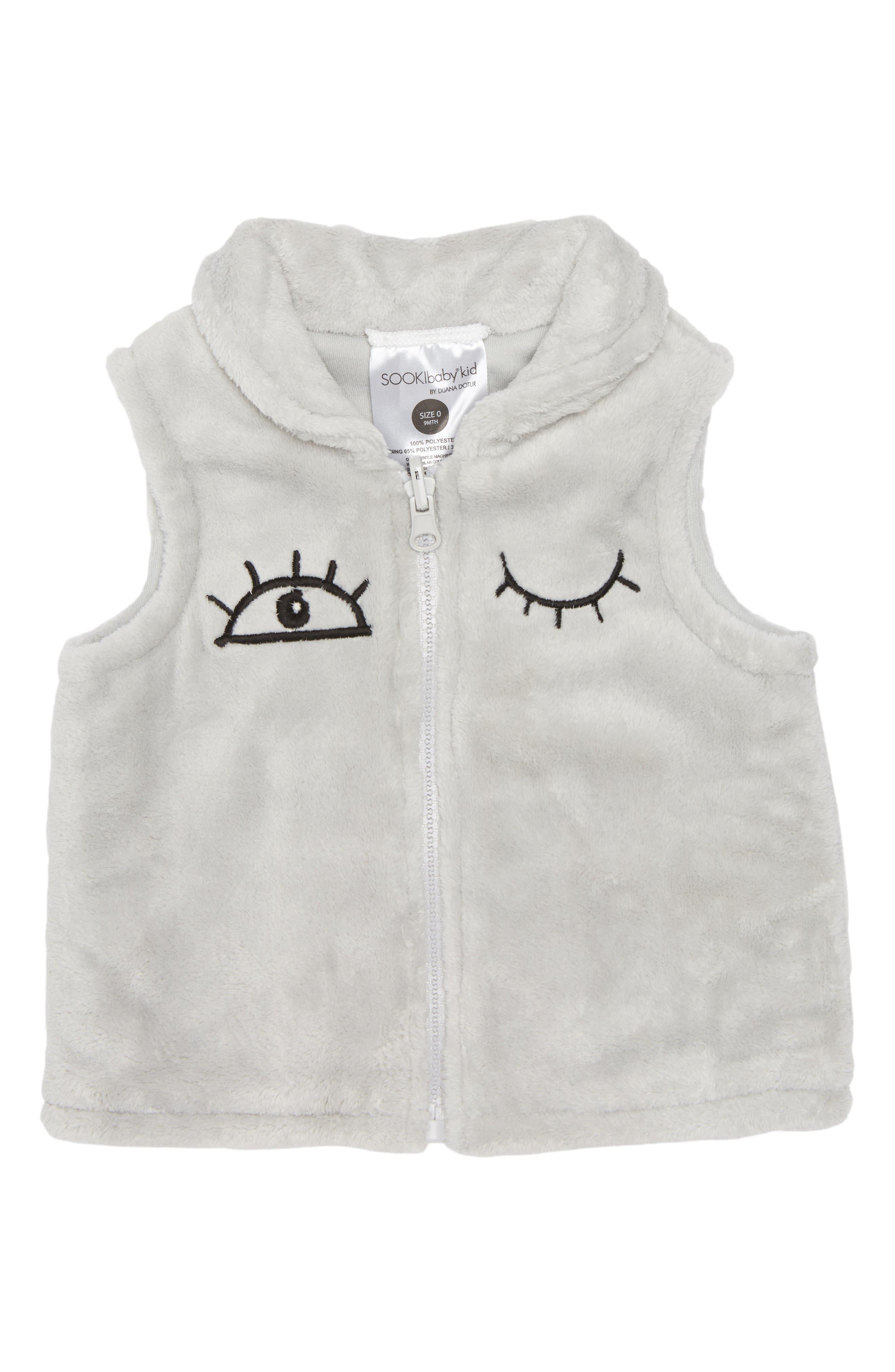Main Image - SOOKIbaby I Love You Fleece Vest (Baby)