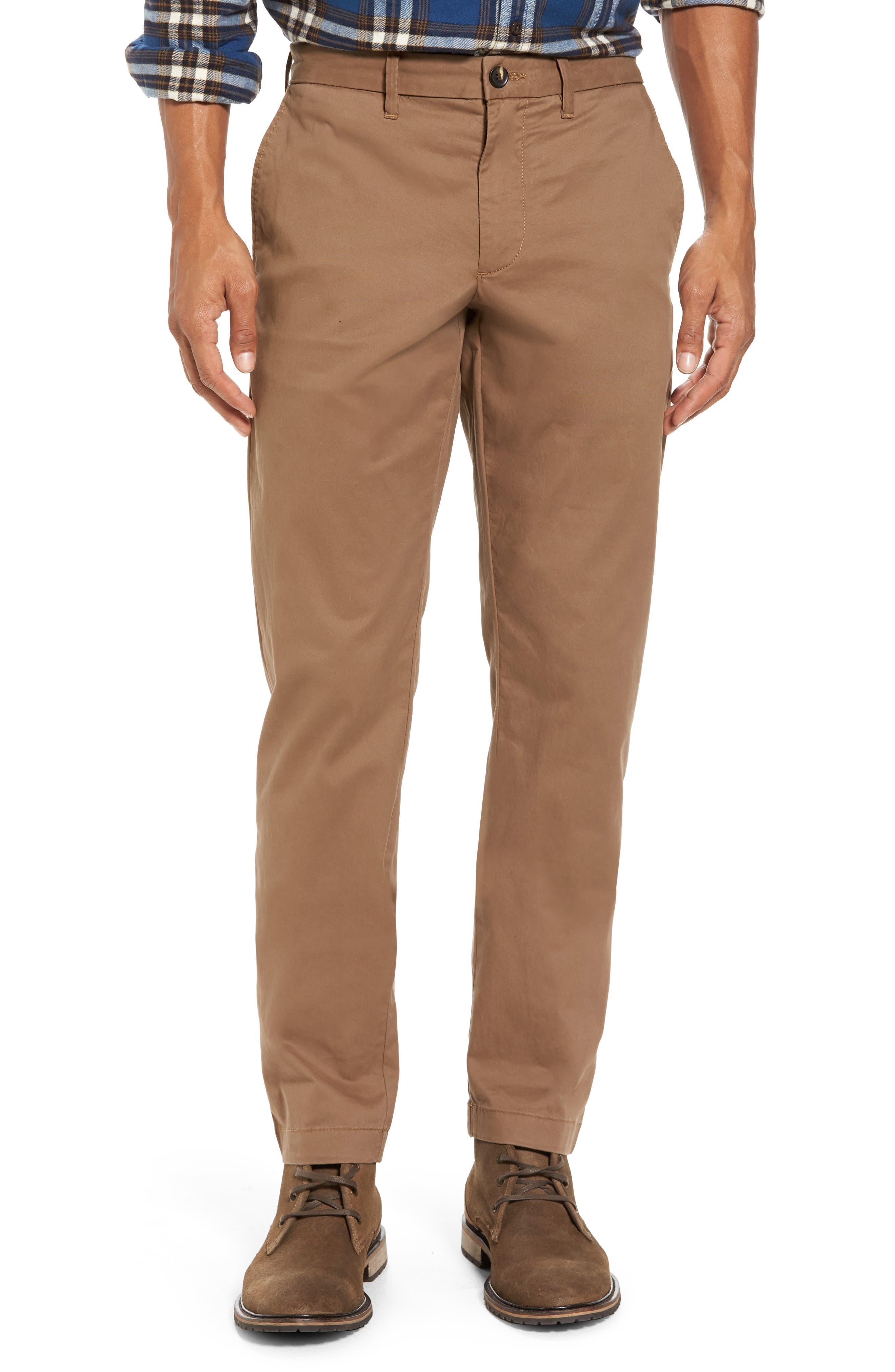 Ballard Slim Fit Stretch Chinos,                         Main,                         color, Brown Shitake