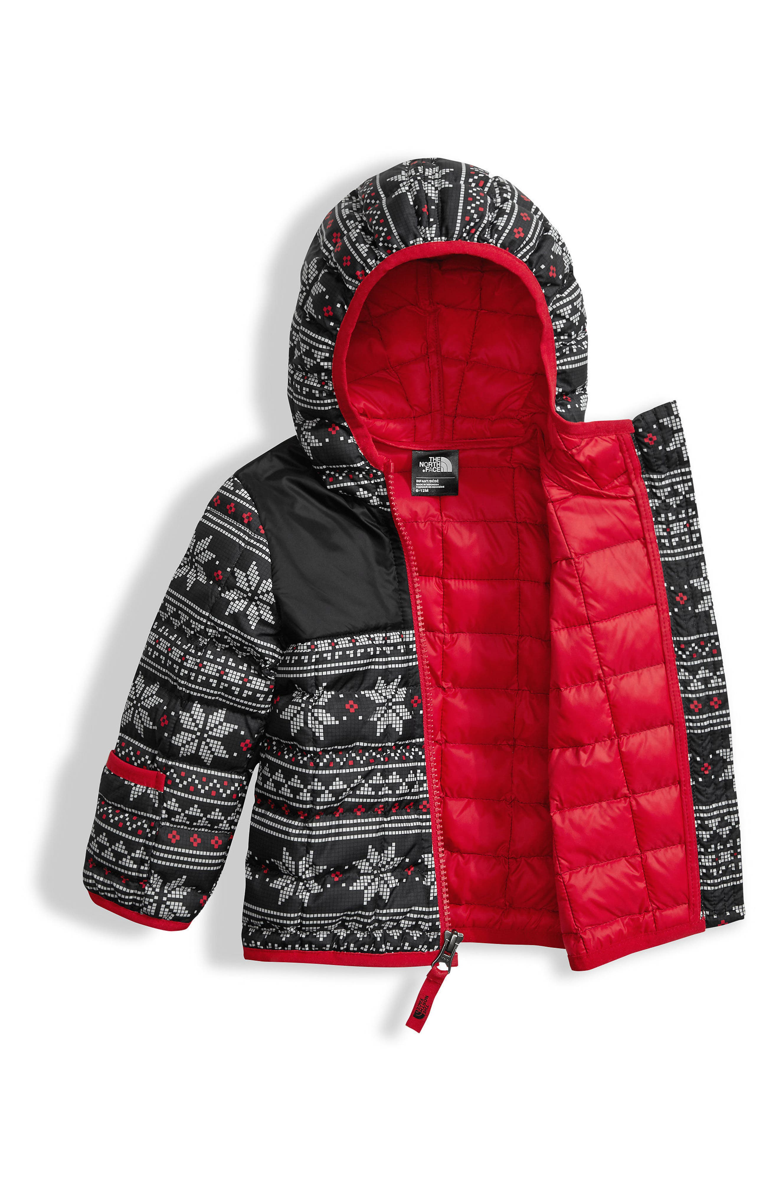 'ThermoBall<sup>™</sup>' PrimaLoft<sup>®</sup> Hooded Jacket,                             Alternate thumbnail 3, color,                             Tnf White/ Fair Isle Print
