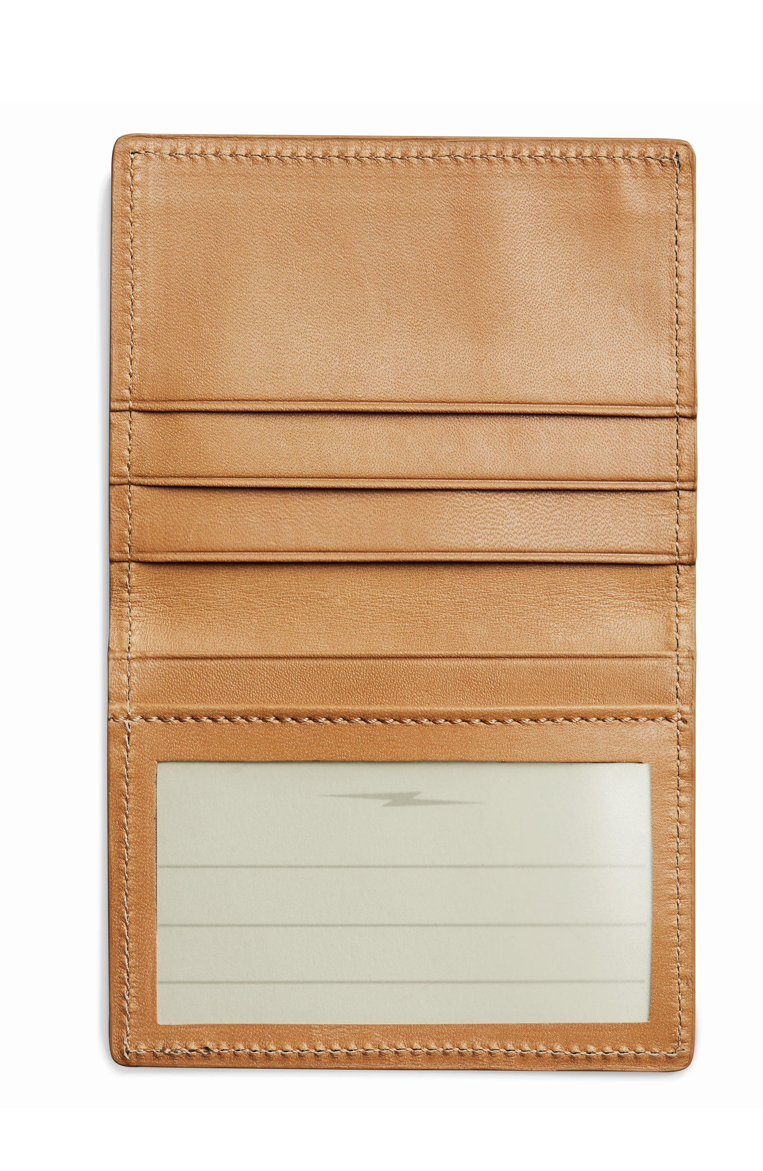 Leather Wallet,                             Alternate thumbnail 2, color,                             Camel