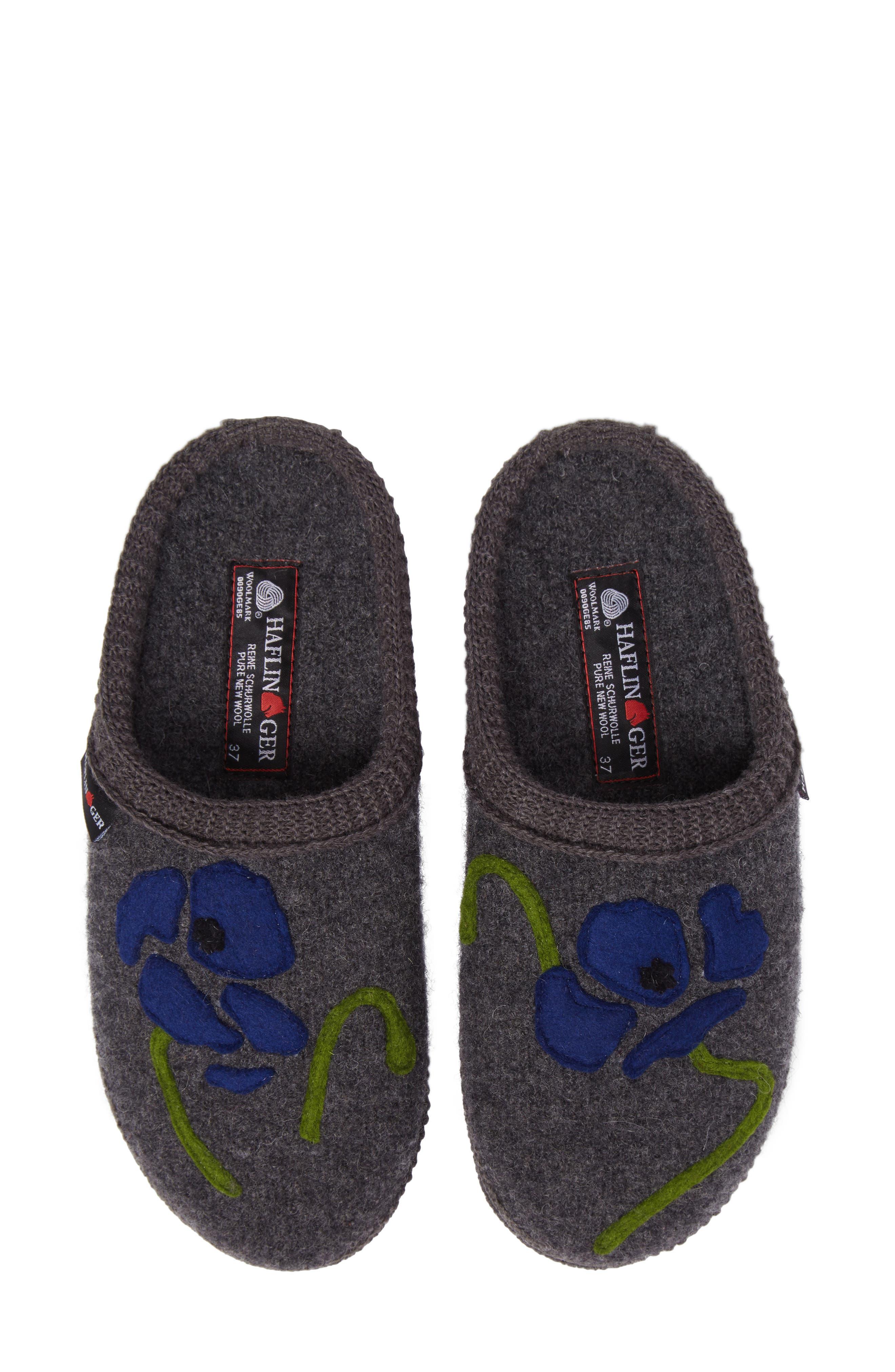 Blossom Slipper,                         Main,                         color, Grey Wool