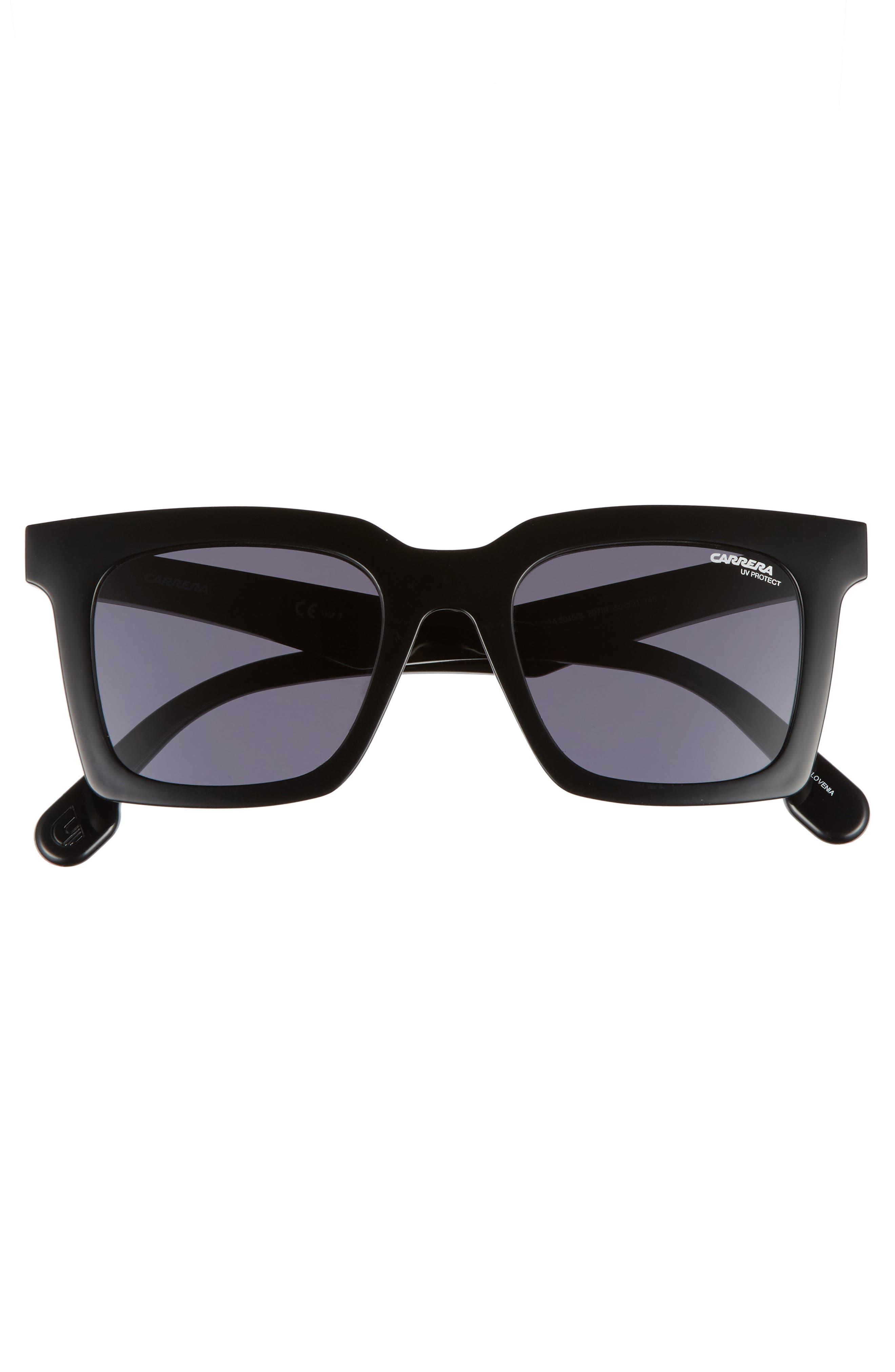 5045S 50mm Sunglasses,                             Alternate thumbnail 2, color,                             Black/ Gray Blue