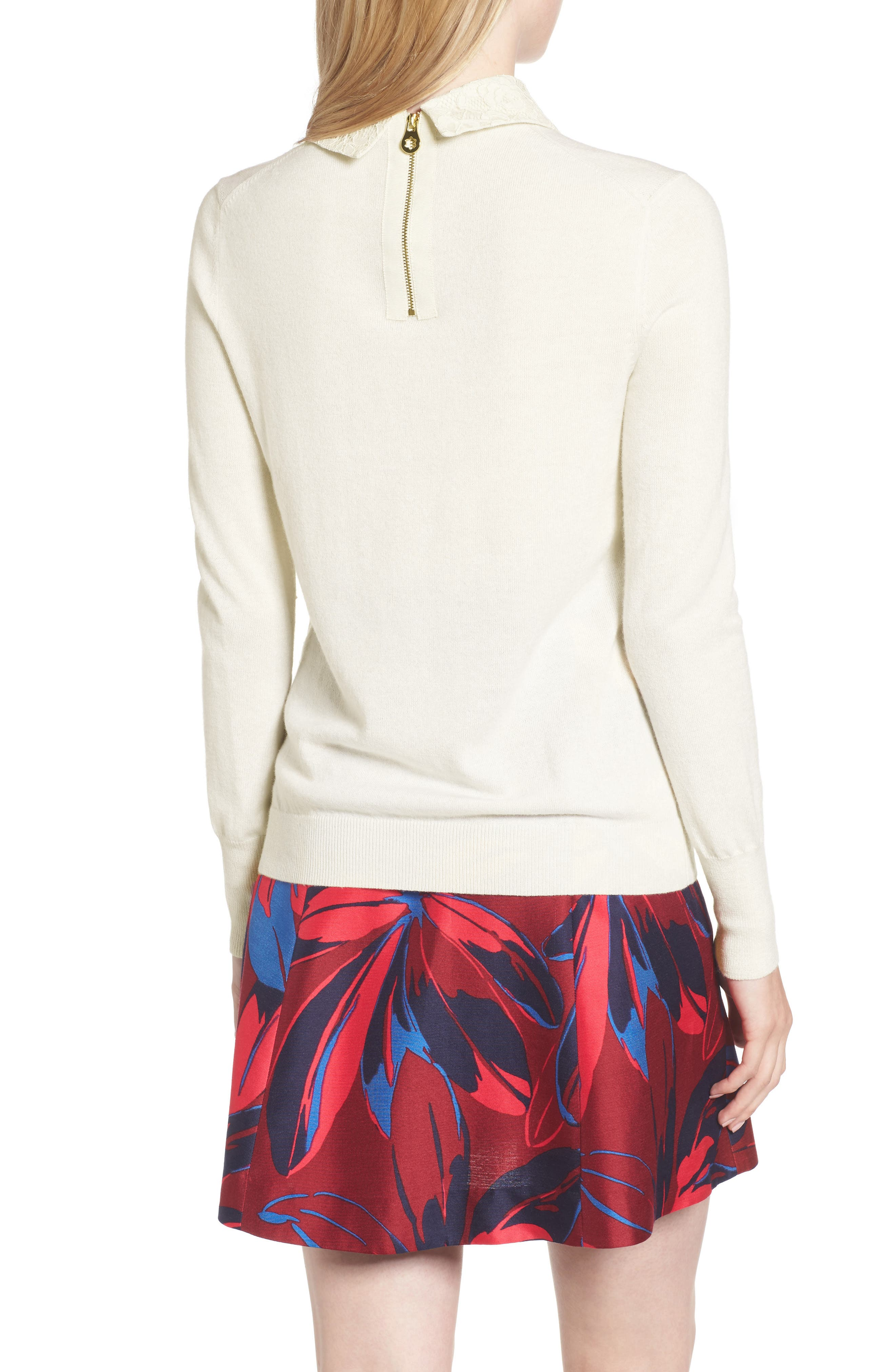 Alternate Image 2  - Draper James Lace Collar Augusta Sweater