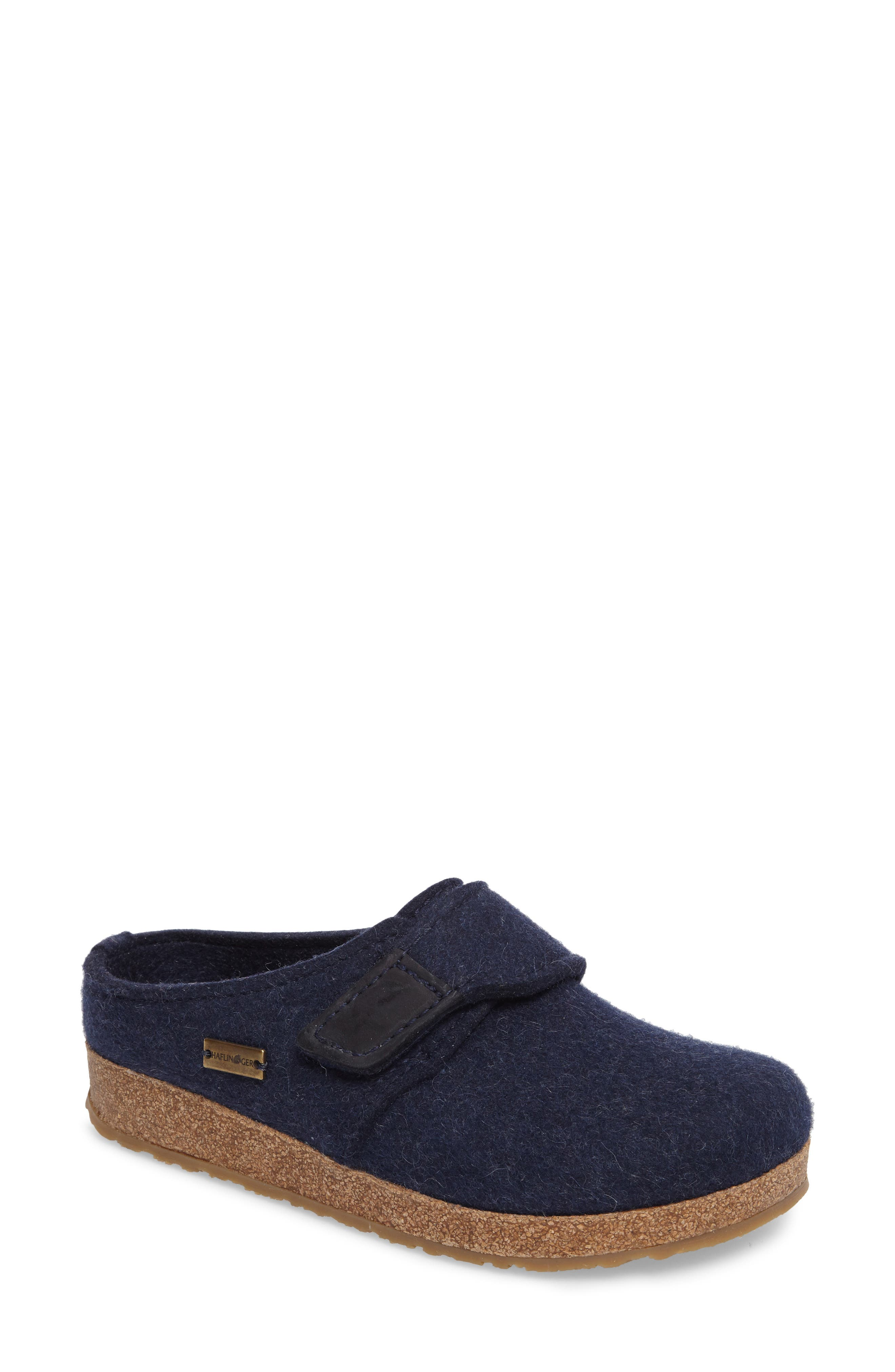 Grizzly Journey Clog Slipper,                             Main thumbnail 1, color,                             Captains Blue Wool