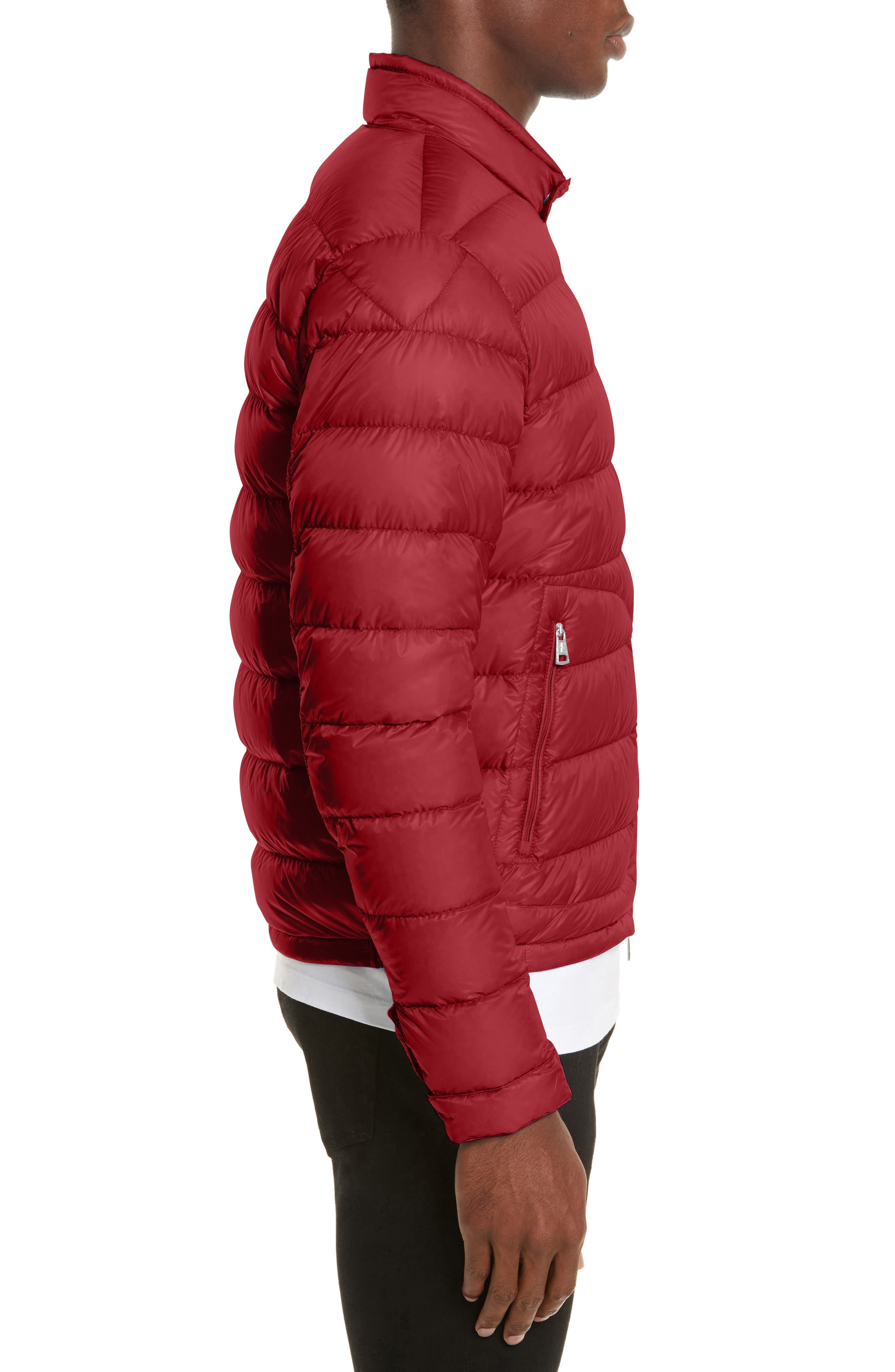 Acorus Down Quilted Jacket,                             Alternate thumbnail 3, color,                             Dark Red