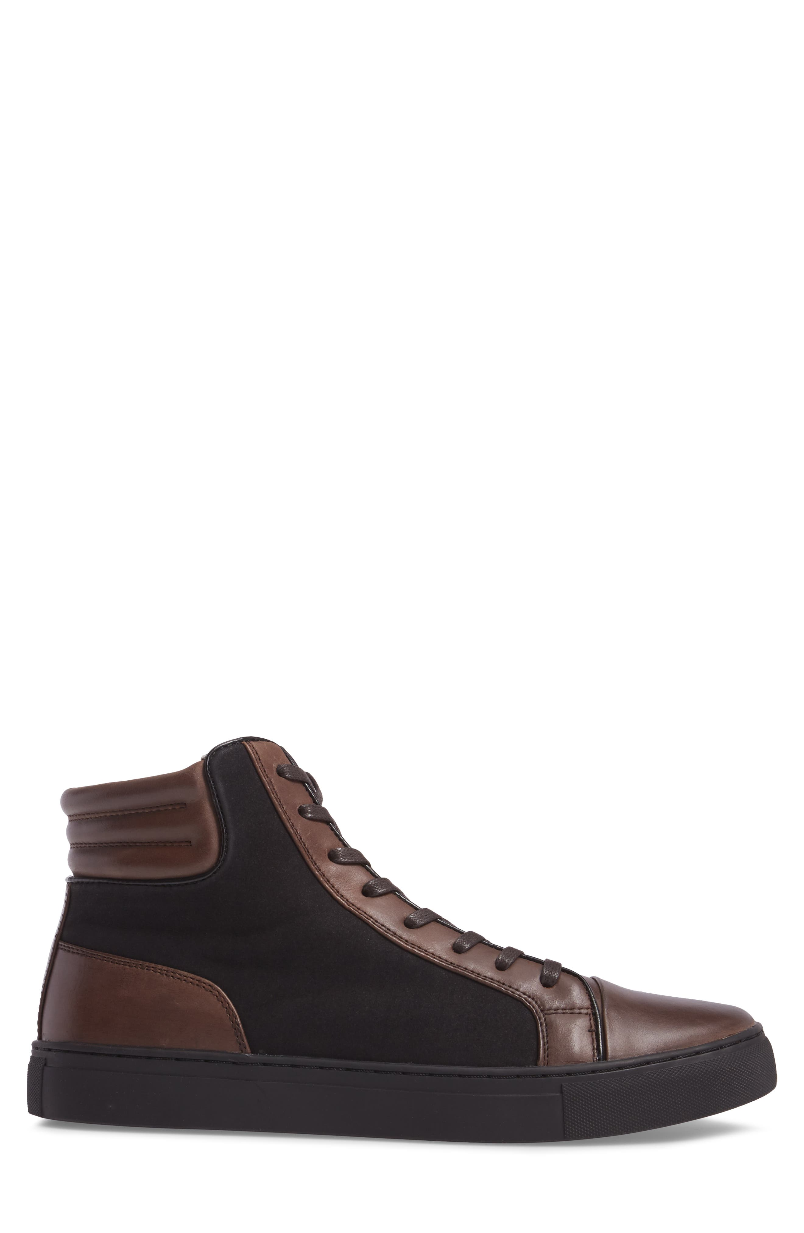 Kenneth Cole Reaction Sneaker,                             Alternate thumbnail 3, color,                             Brown/ Black
