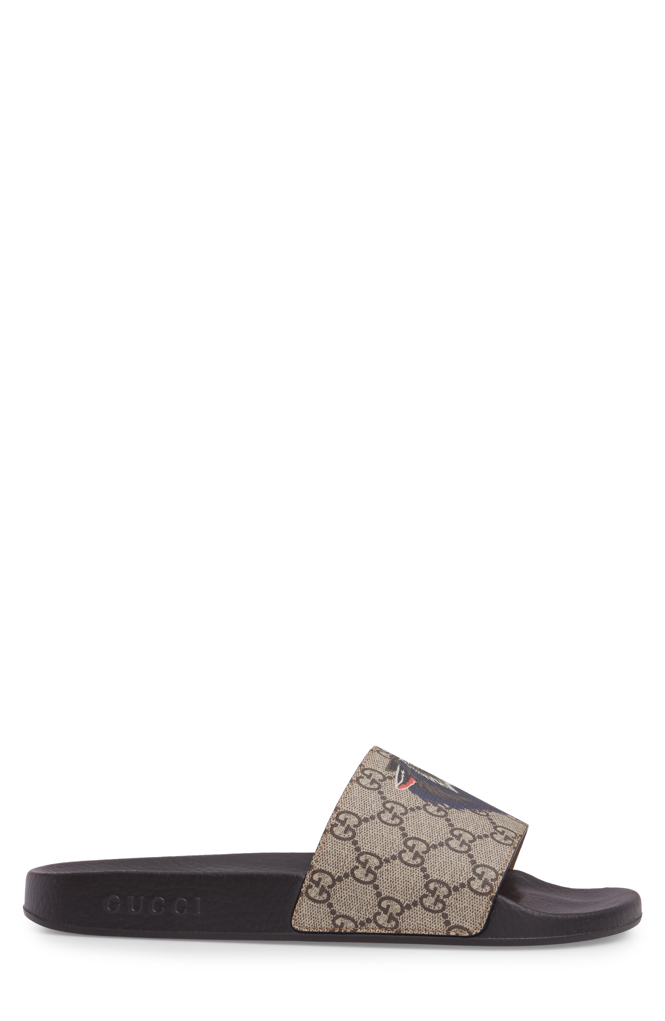 Pursuit Angry Wolf Slide Sandal,                             Alternate thumbnail 3, color,                             Beige/ Ebony