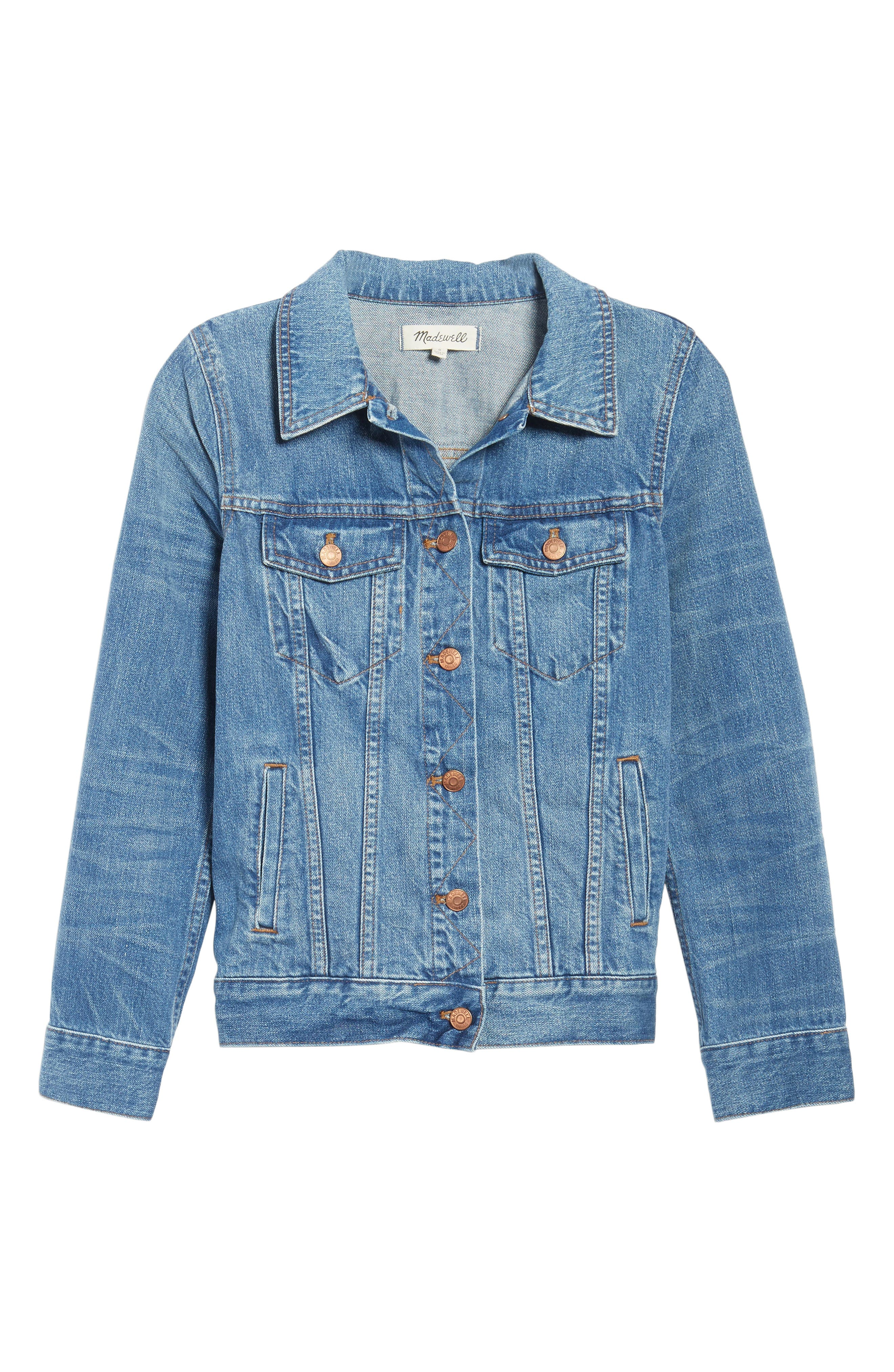 Alternate Image 7  - Madewell Jean Jacket (Pinter Wash)
