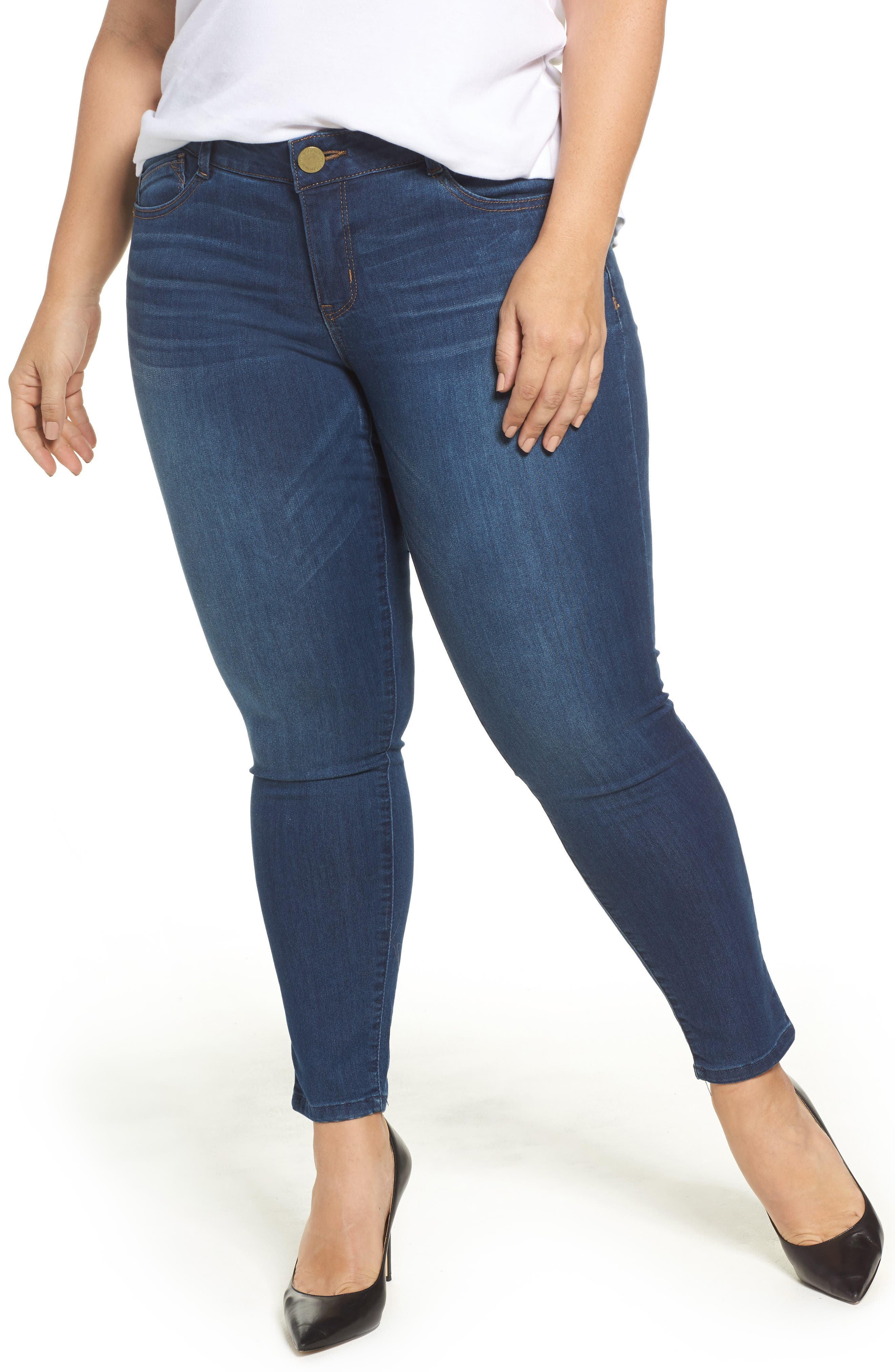 Alternate Image 1 Selected - Wit & Wisdom Ab-solution Skinny Jeans (Plus Size) (Nordstrom Exclusive)