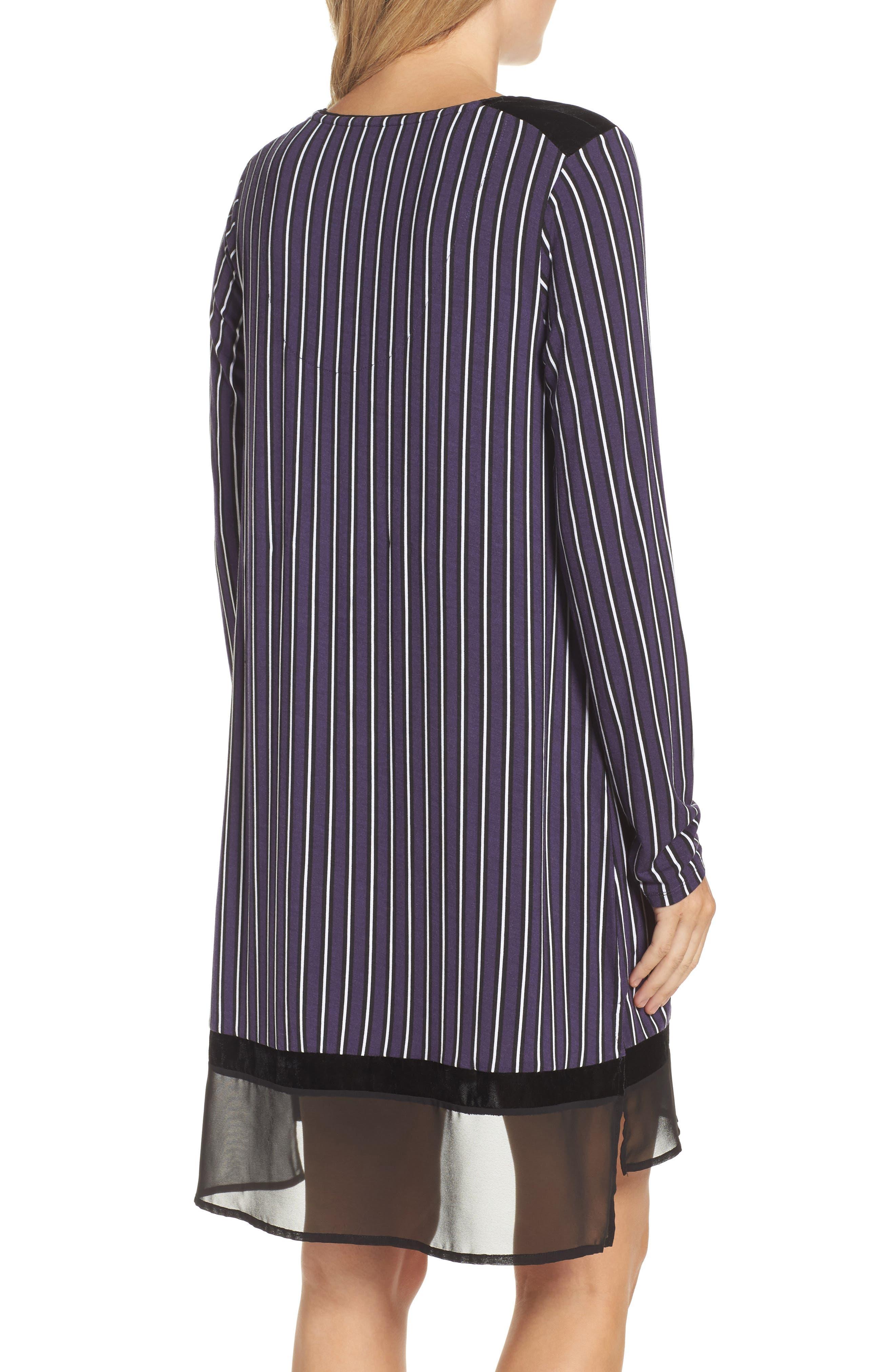 Alternate Image 2  - DKNY Stripe Jersey Sleep Shirt