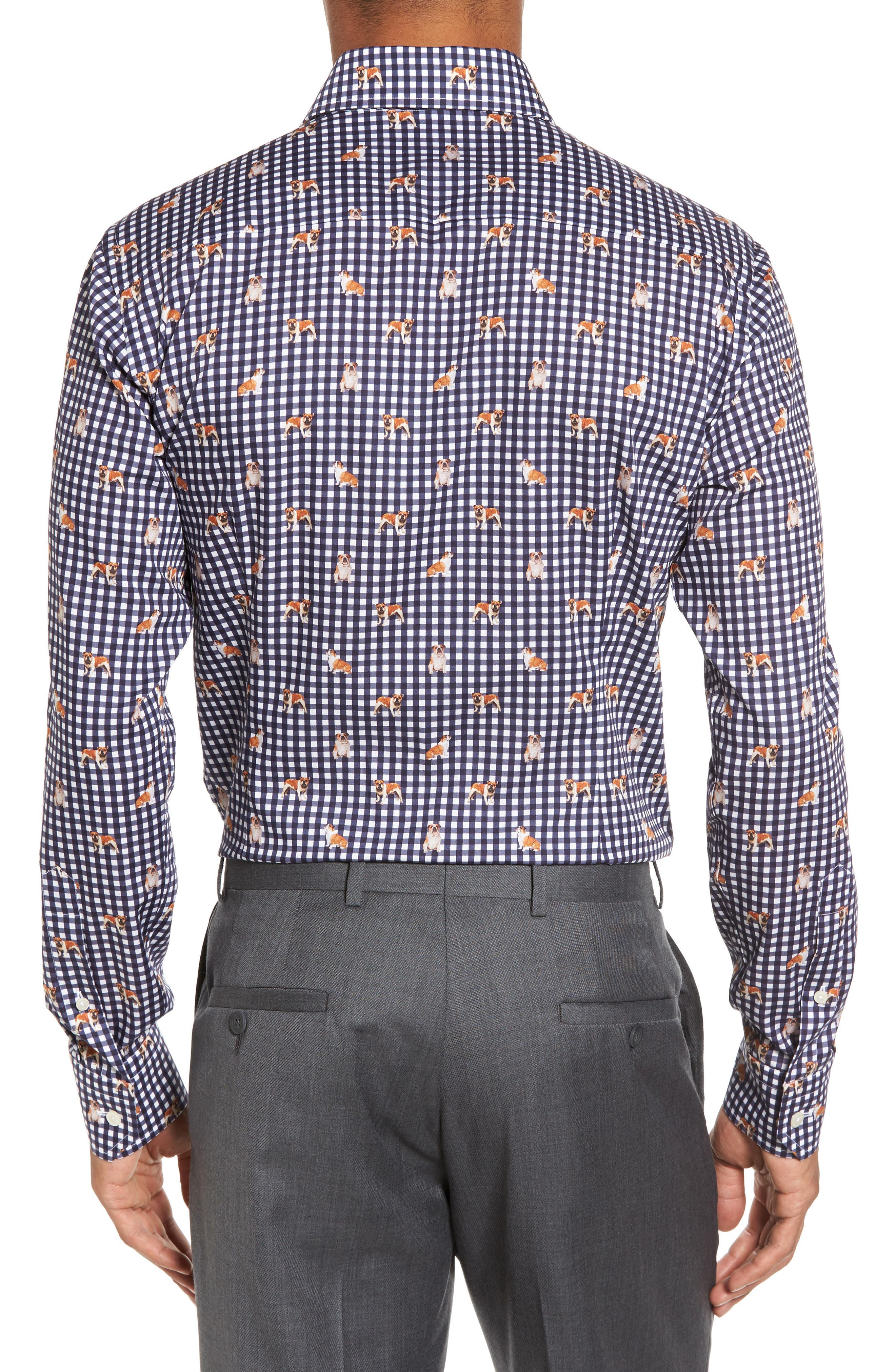 Alternate Image 3  - Eton Slim Fit Print Dress Shirt