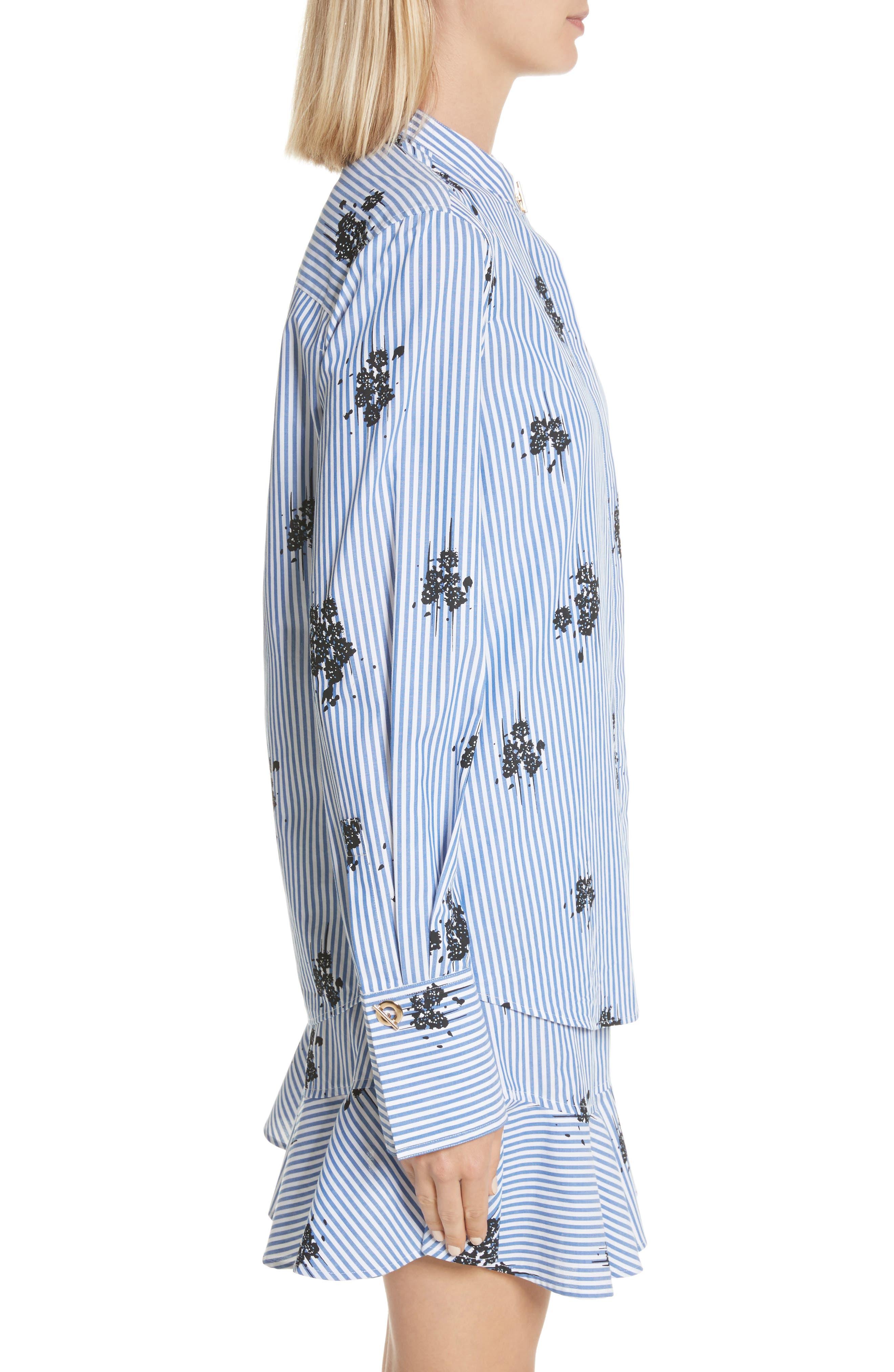 2-in-1 Ruffled Shirtdress,                             Alternate thumbnail 4, color,                             Blue