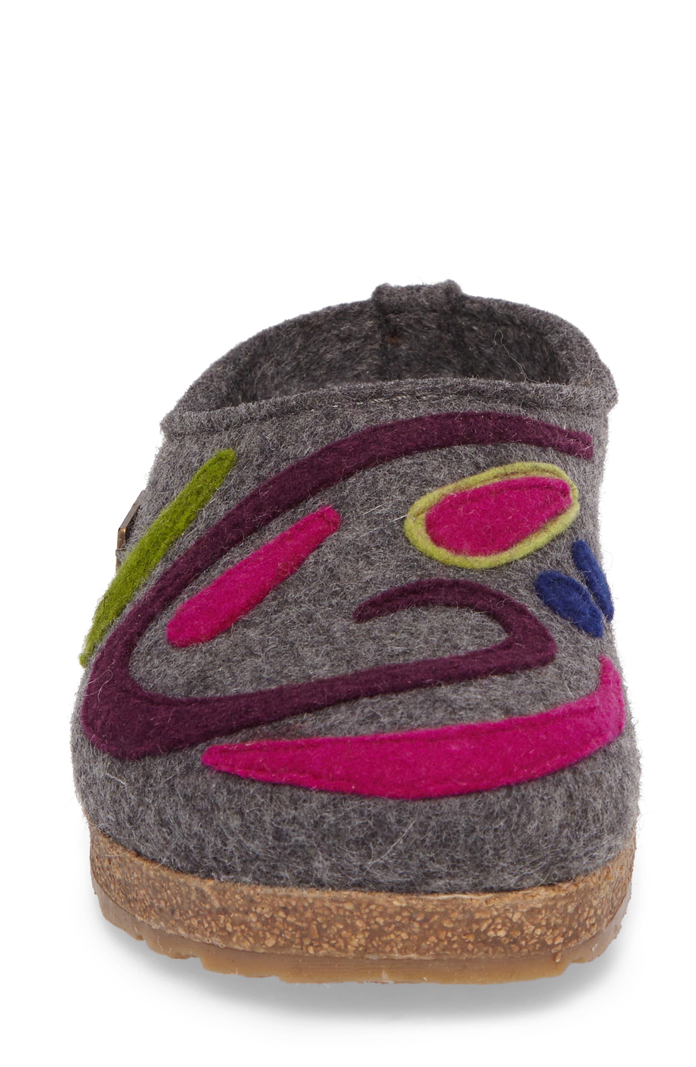 Harmony Slipper,                             Alternate thumbnail 4, color,                             Grey Wool