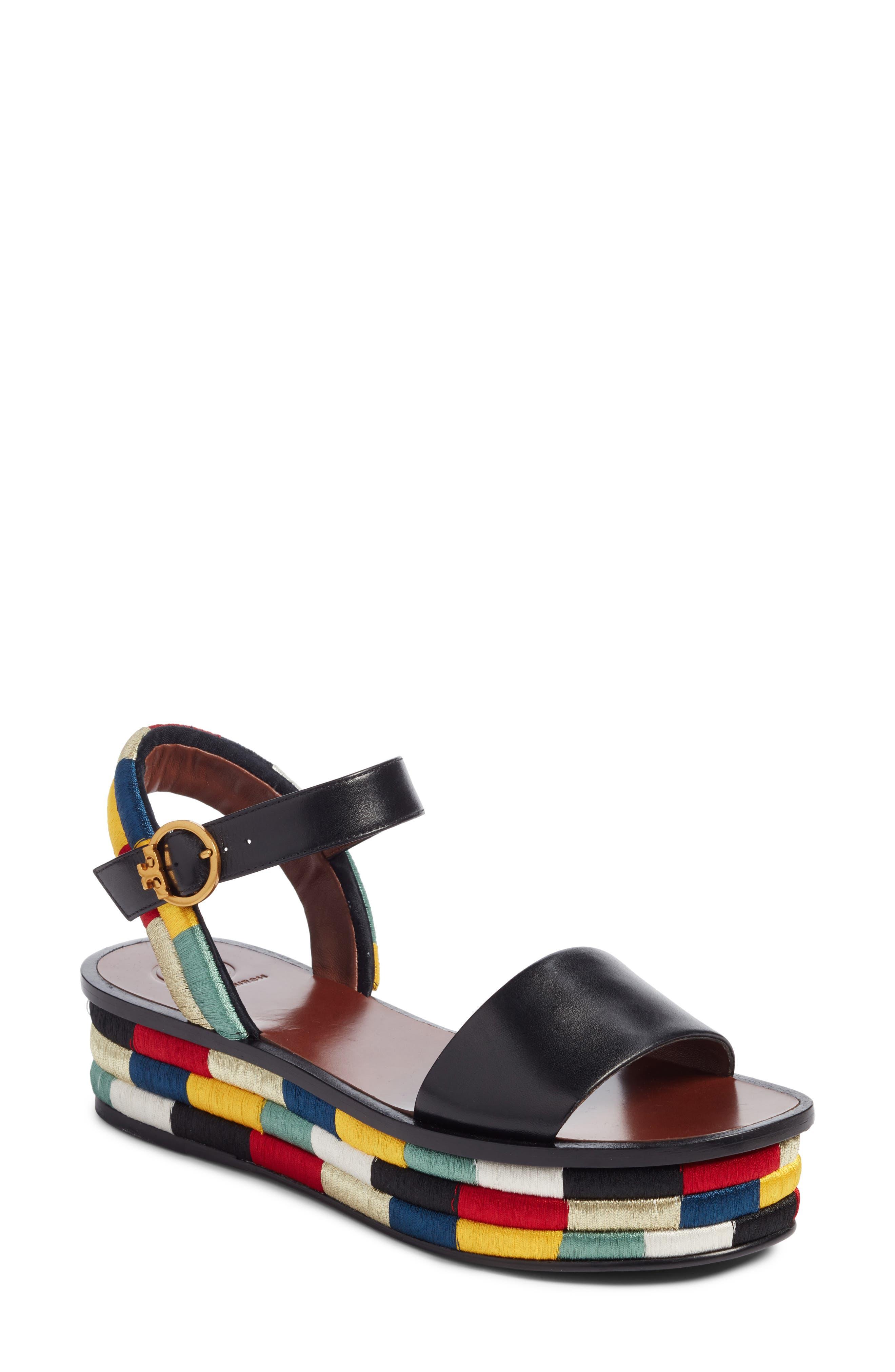 Camilla Platform Sandal,                             Main thumbnail 1, color,                             Black