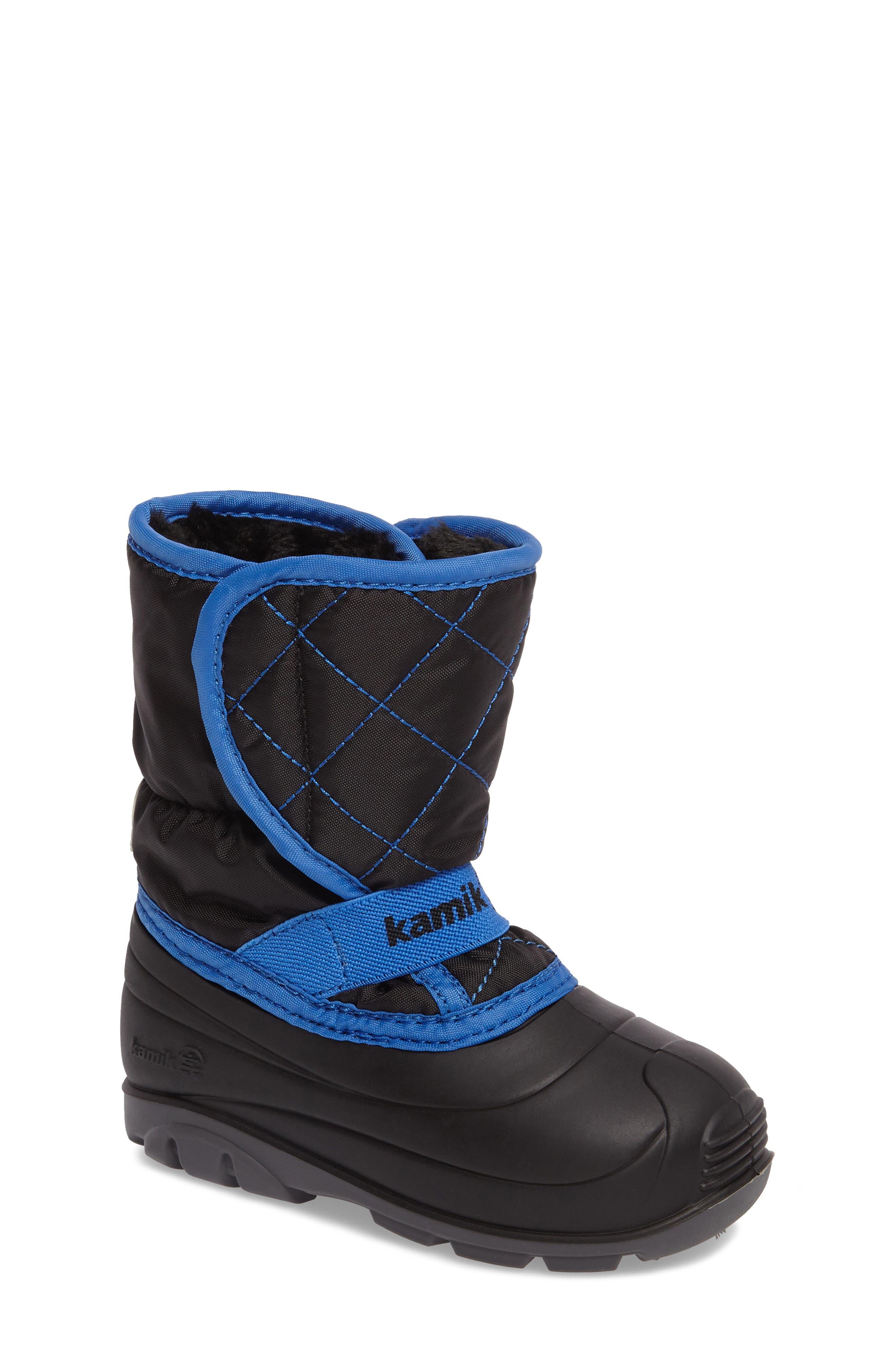 Kamik Pika2 Faux Fur Insulated Waterproof Snow Boot (Walker & Toddler)