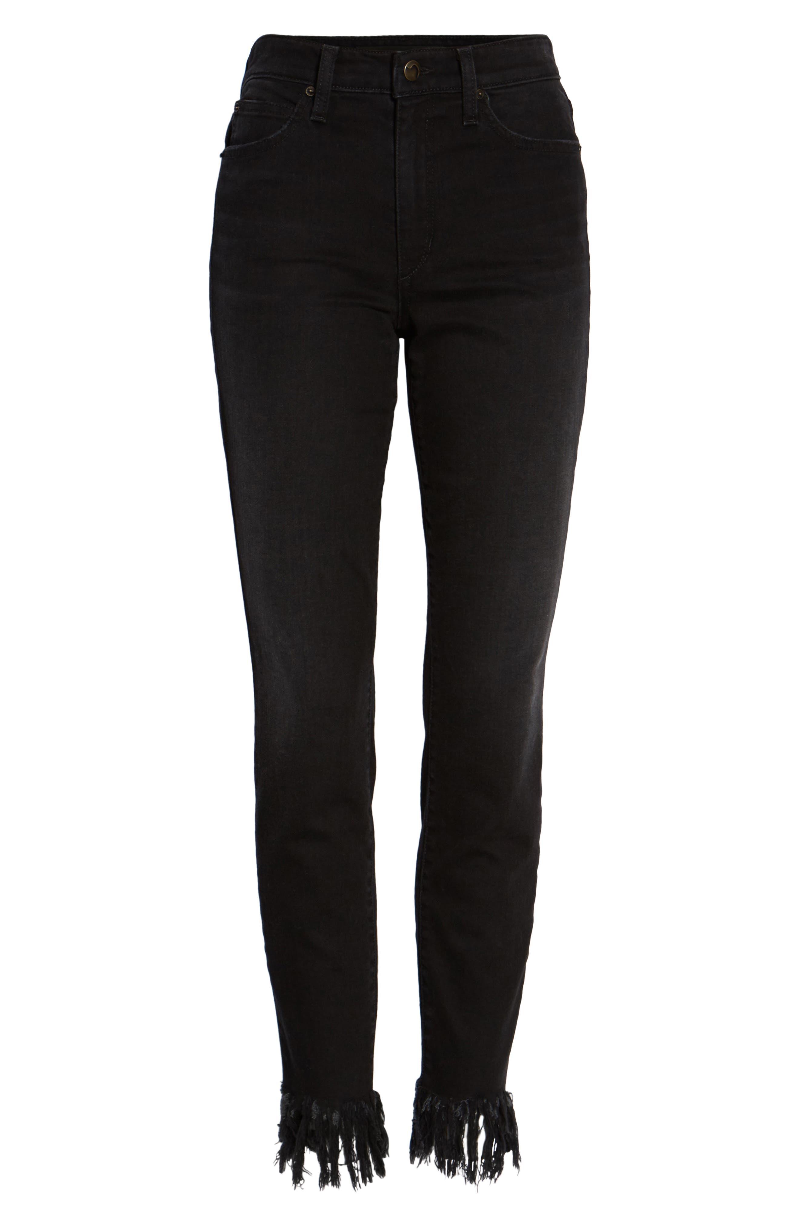 Alternate Image 6  - Joe's Charlie High Waist Ankle Skinny Jeans (Shellie)