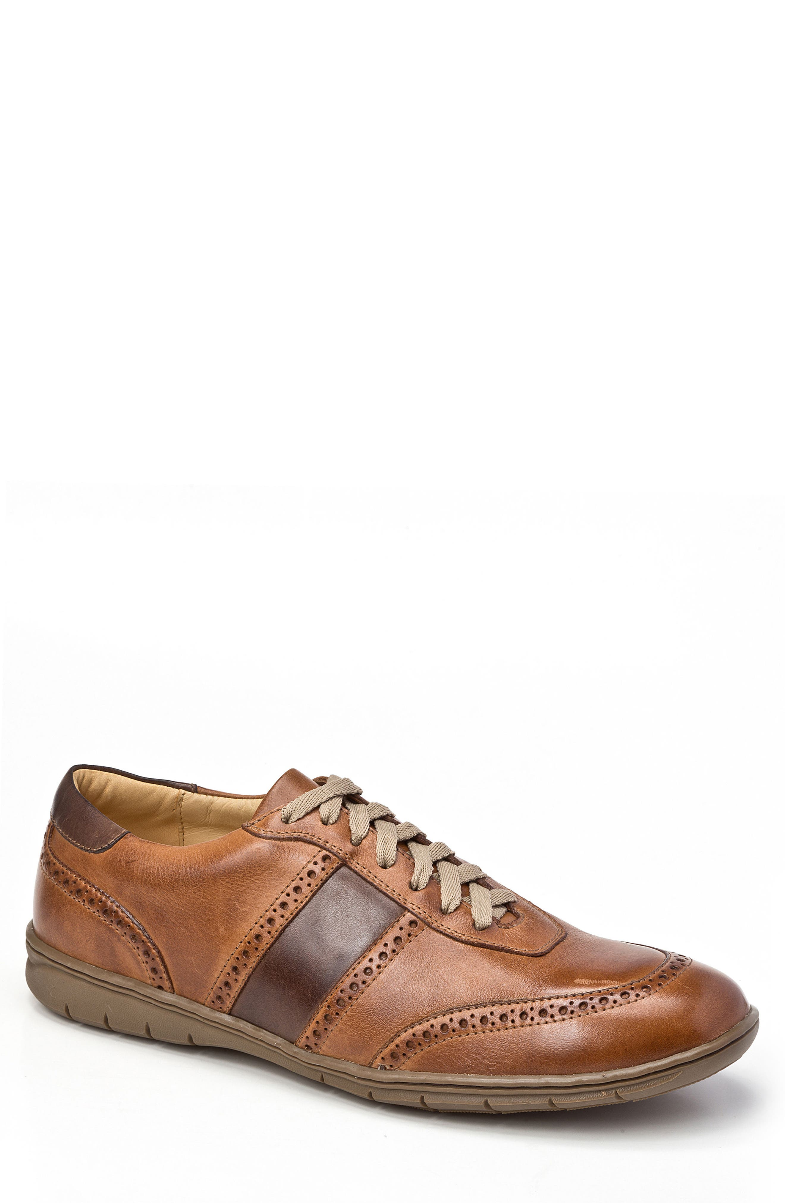 Norris Sneaker,                             Main thumbnail 1, color,                             Tan Leather