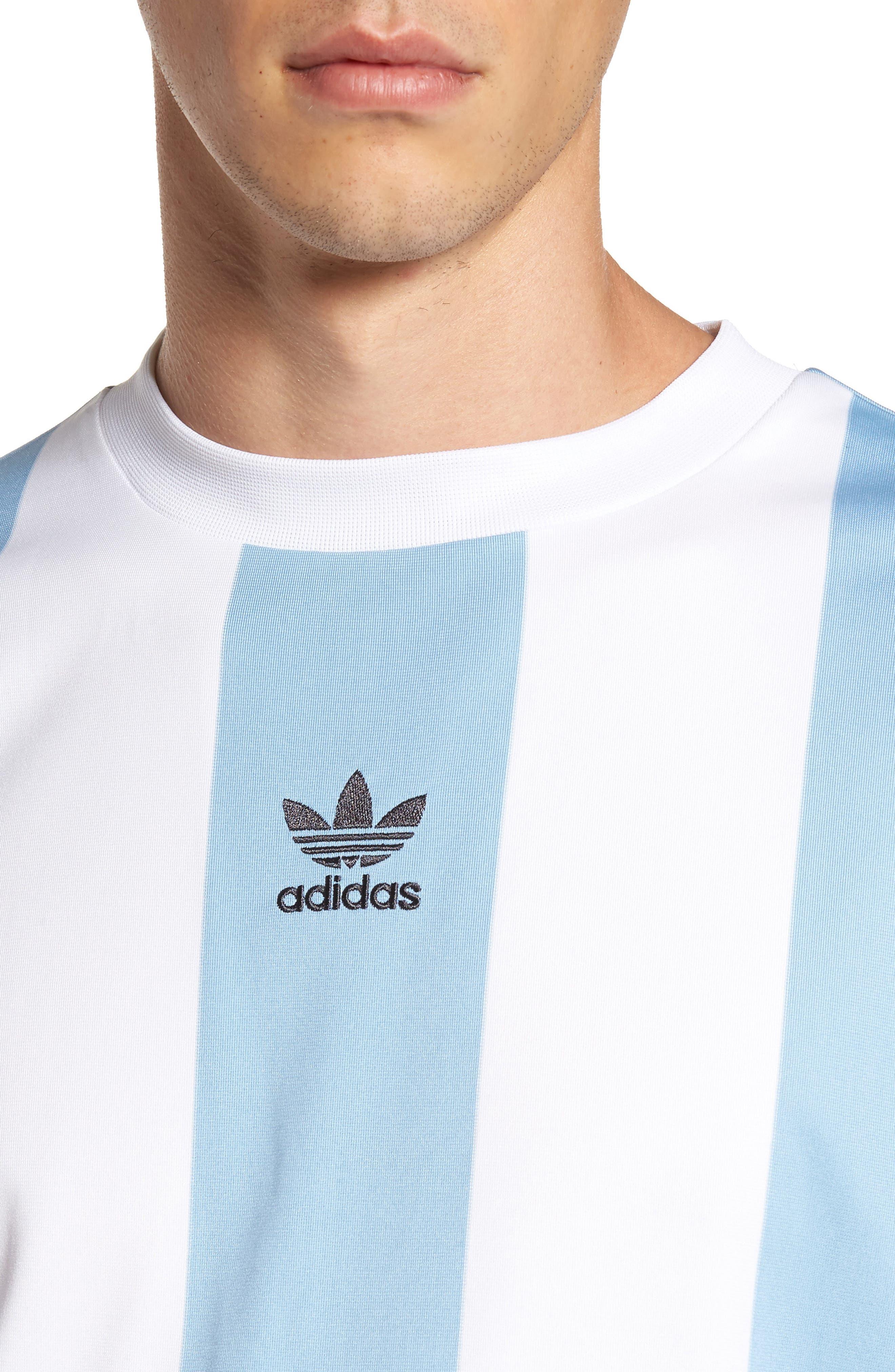 Originals Rival Goalie T-Shirt,                             Alternate thumbnail 4, color,                             Ash Grey/ White