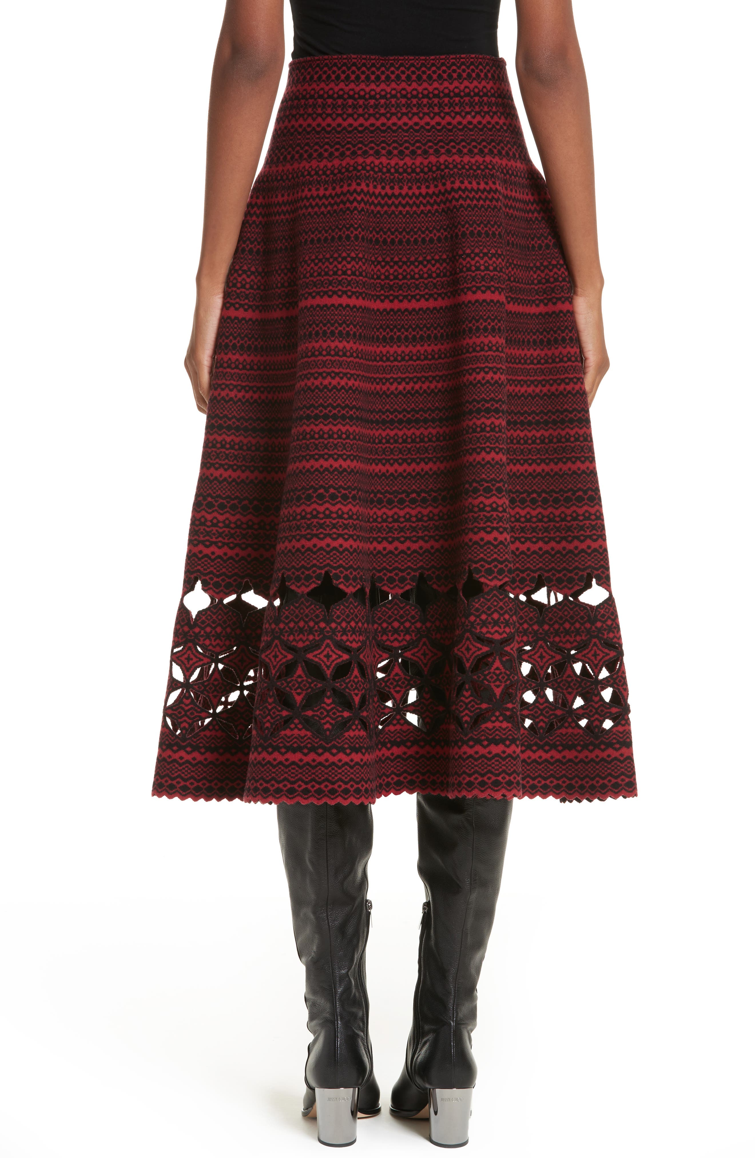 Alternate Image 2  - Fendi Fair Isle Wool Blend Skirt