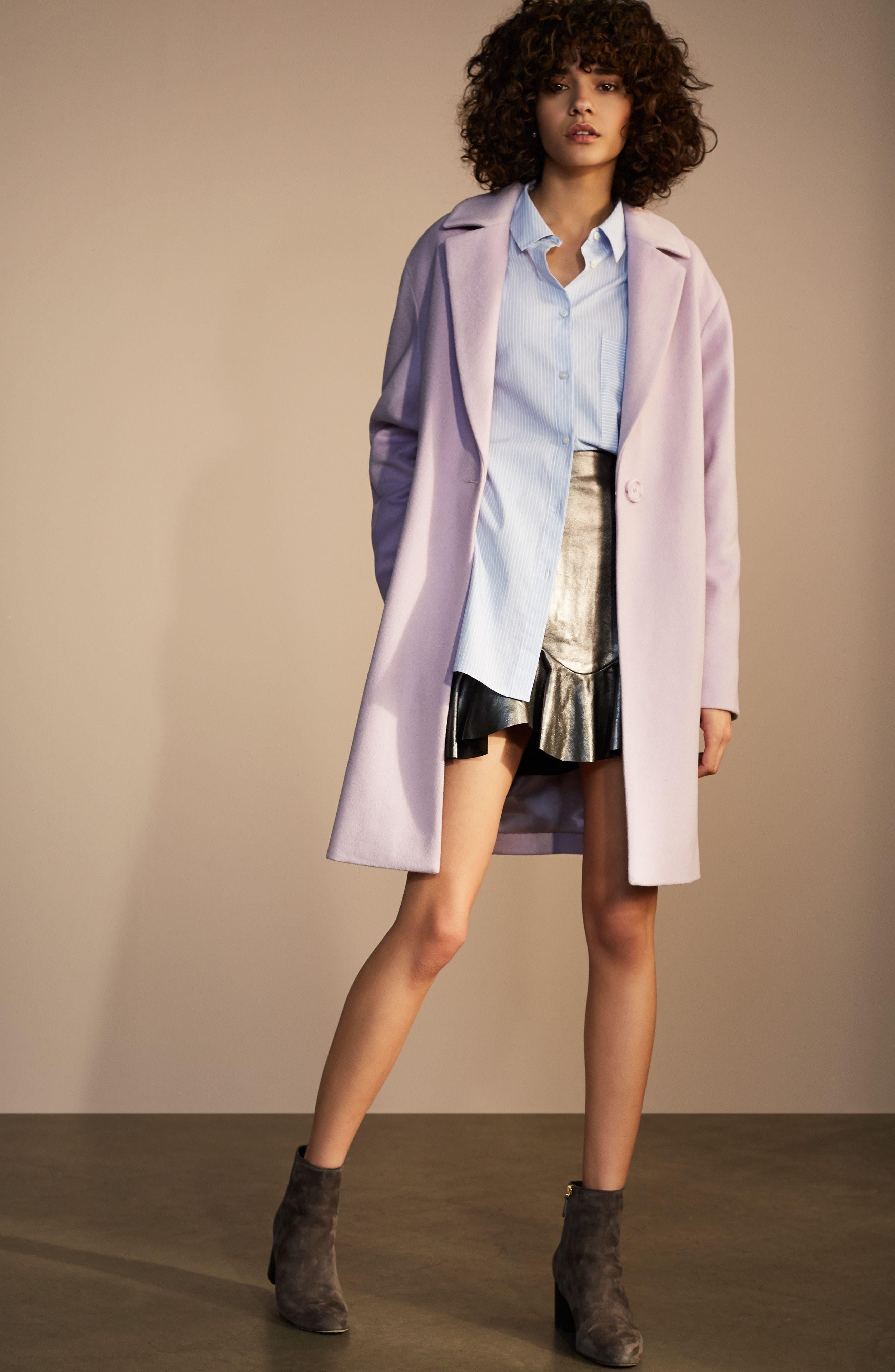Wool Blend Coat,                             Alternate thumbnail 2, color,                             Icy Lavendar