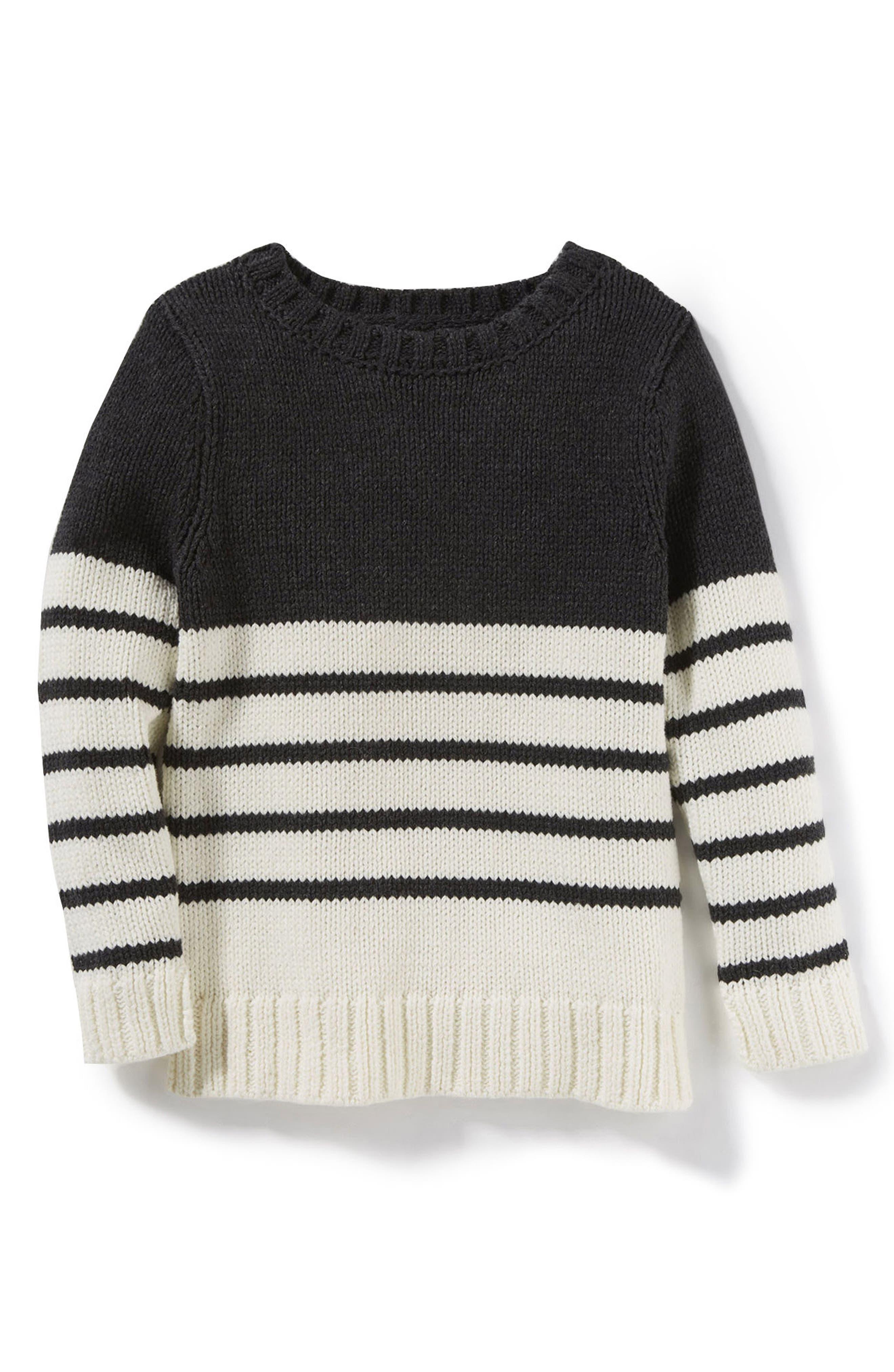 Main Image - Peek Claire Colorblock Stripe Sweater (Toddler Girls, Little Girls & Big Girls)