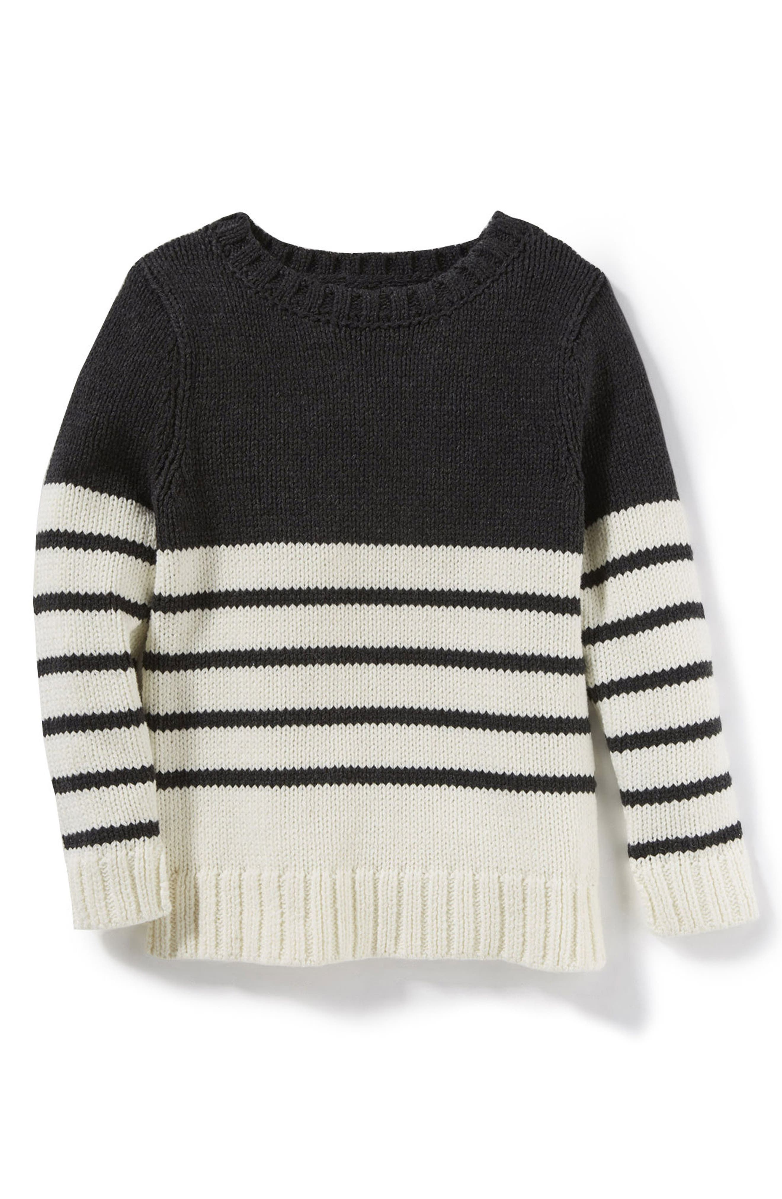 Claire Colorblock Stripe Sweater,                         Main,                         color, Ivory