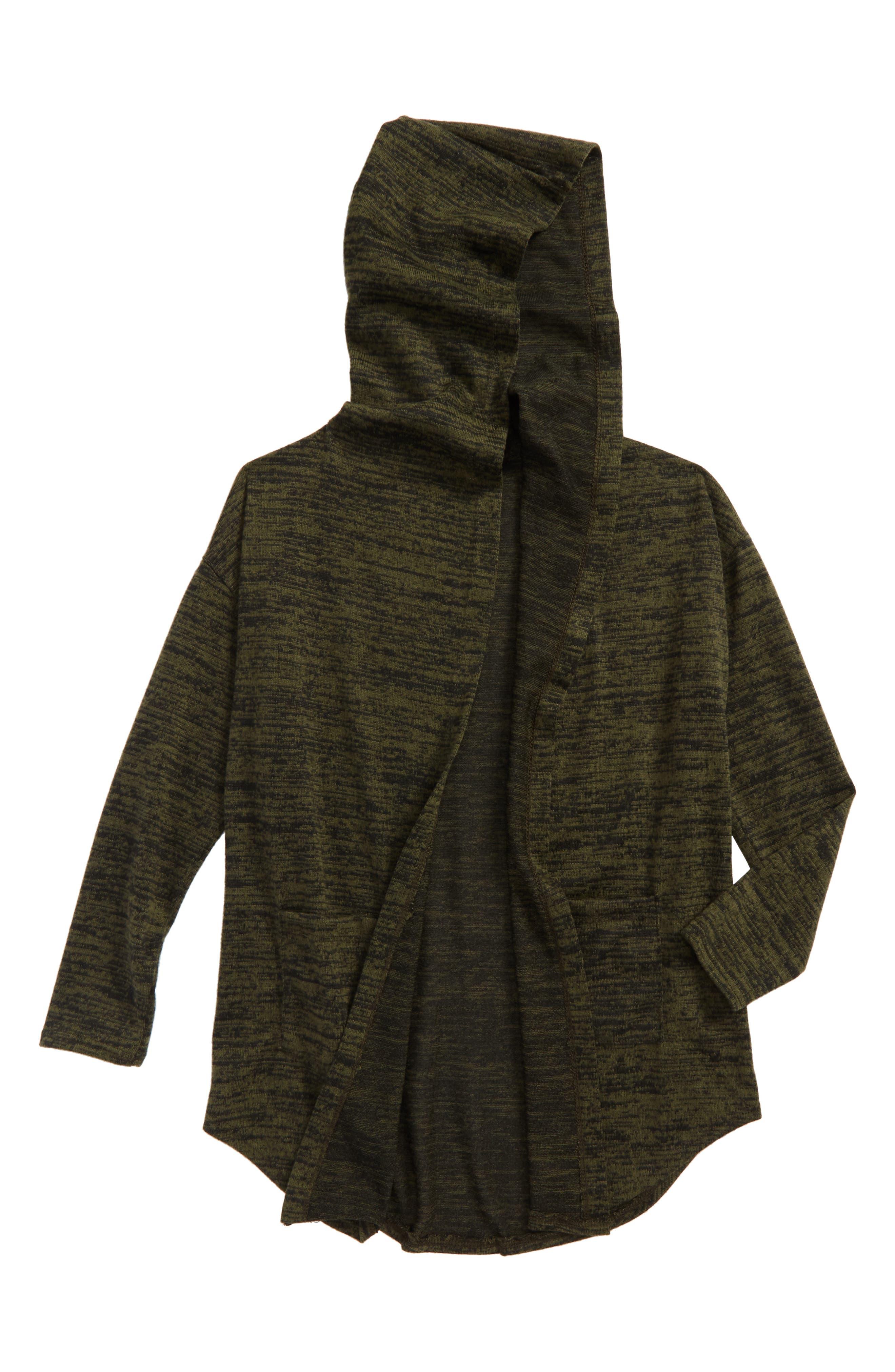 Main Image - Soprano Hooded Cardigan (Big Girls)