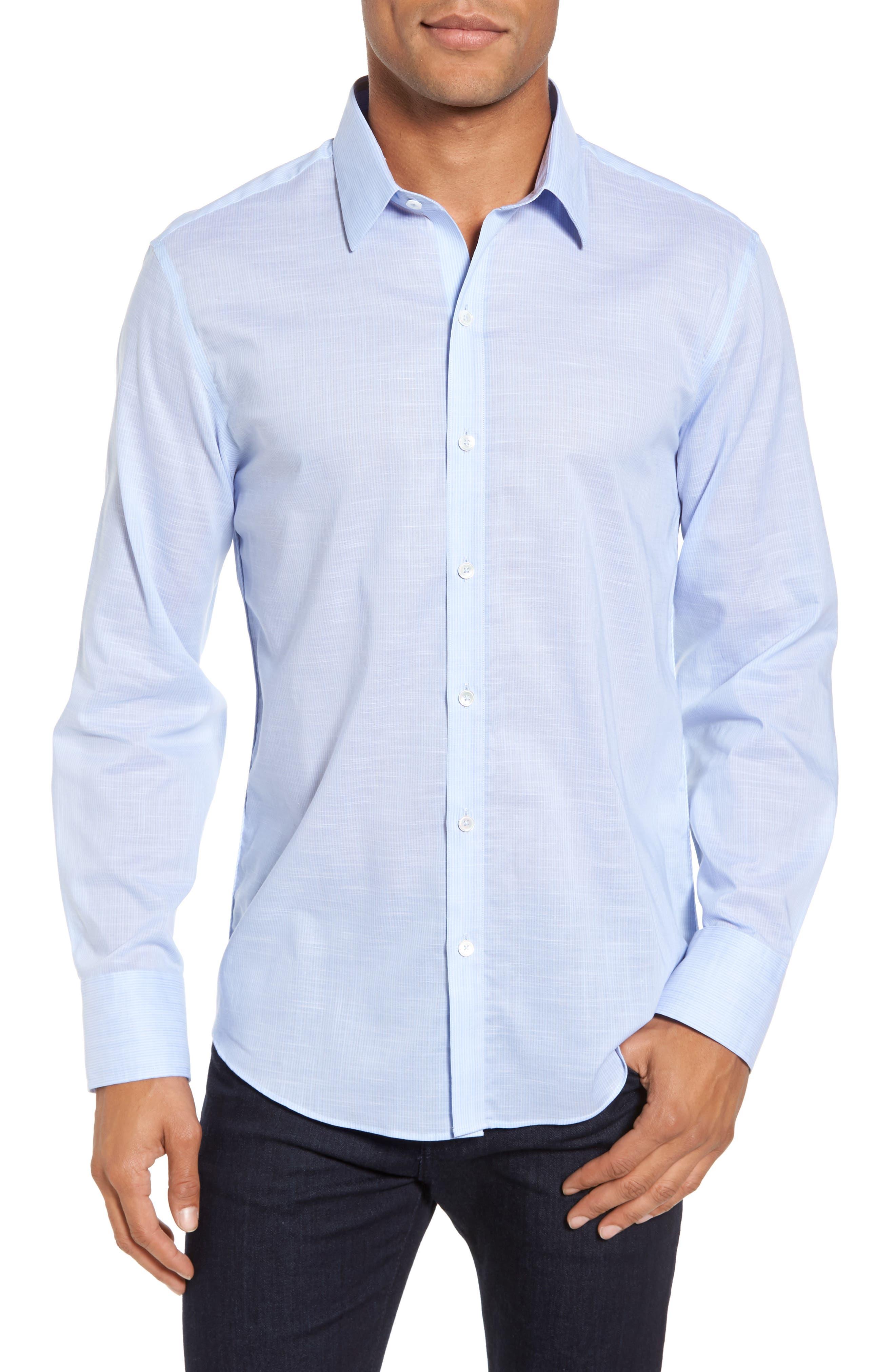 Zachary Prell Ridley Slim Fit Texture Sport Shirt