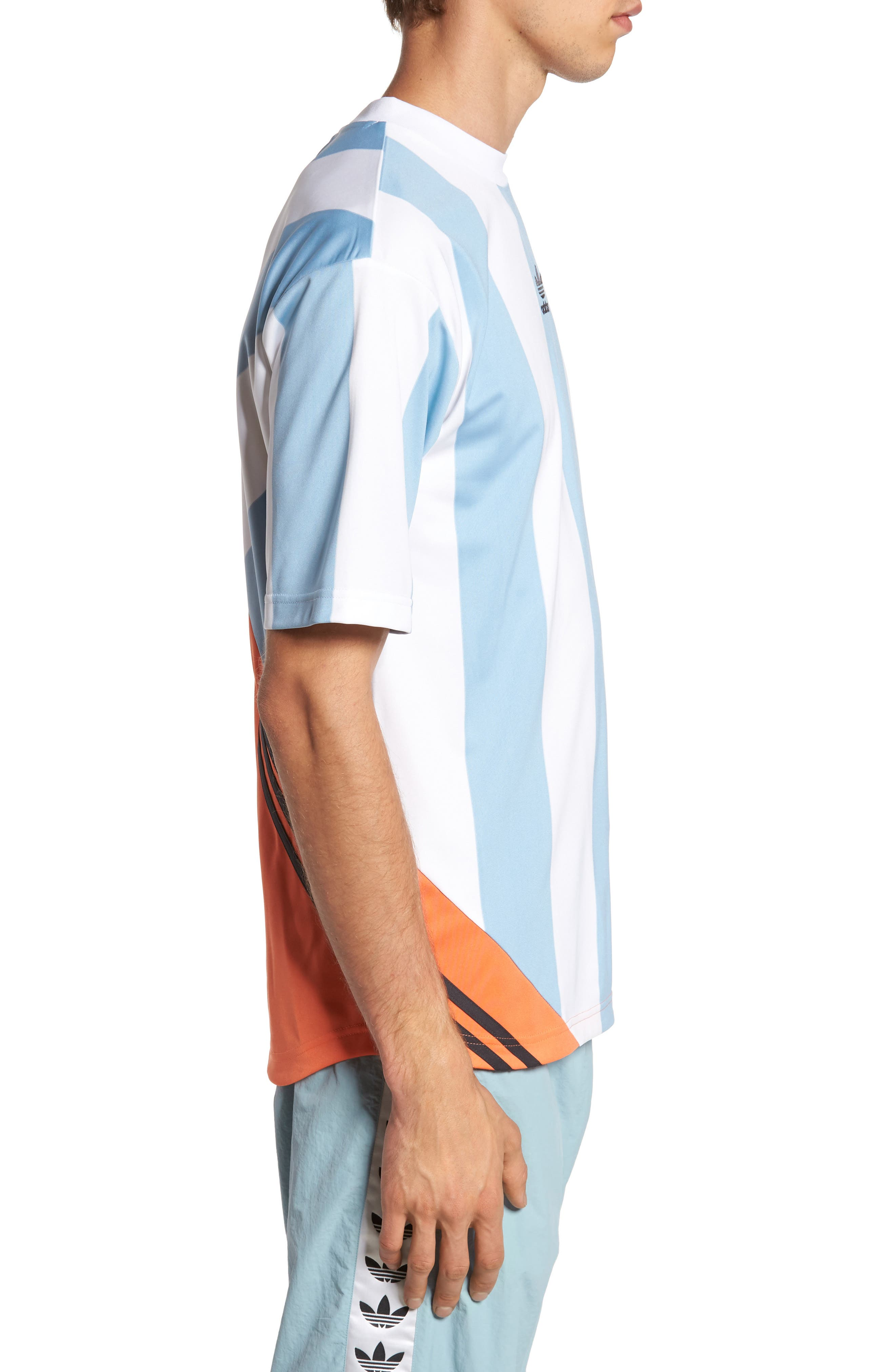 Originals Rival Goalie T-Shirt,                             Alternate thumbnail 3, color,                             Ash Grey/ White
