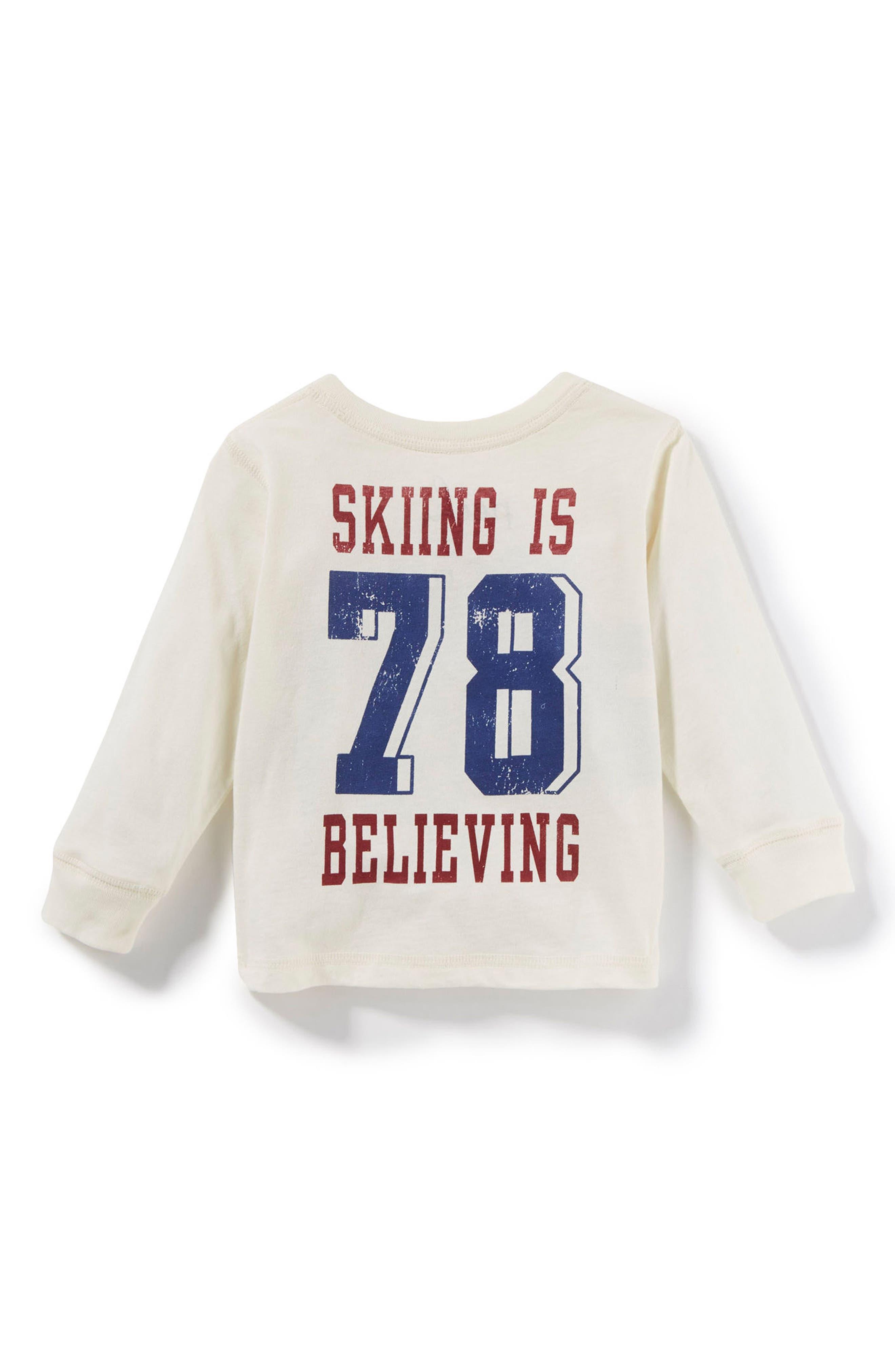 Vermont Ski T-Shirt,                             Alternate thumbnail 2, color,                             Ivory