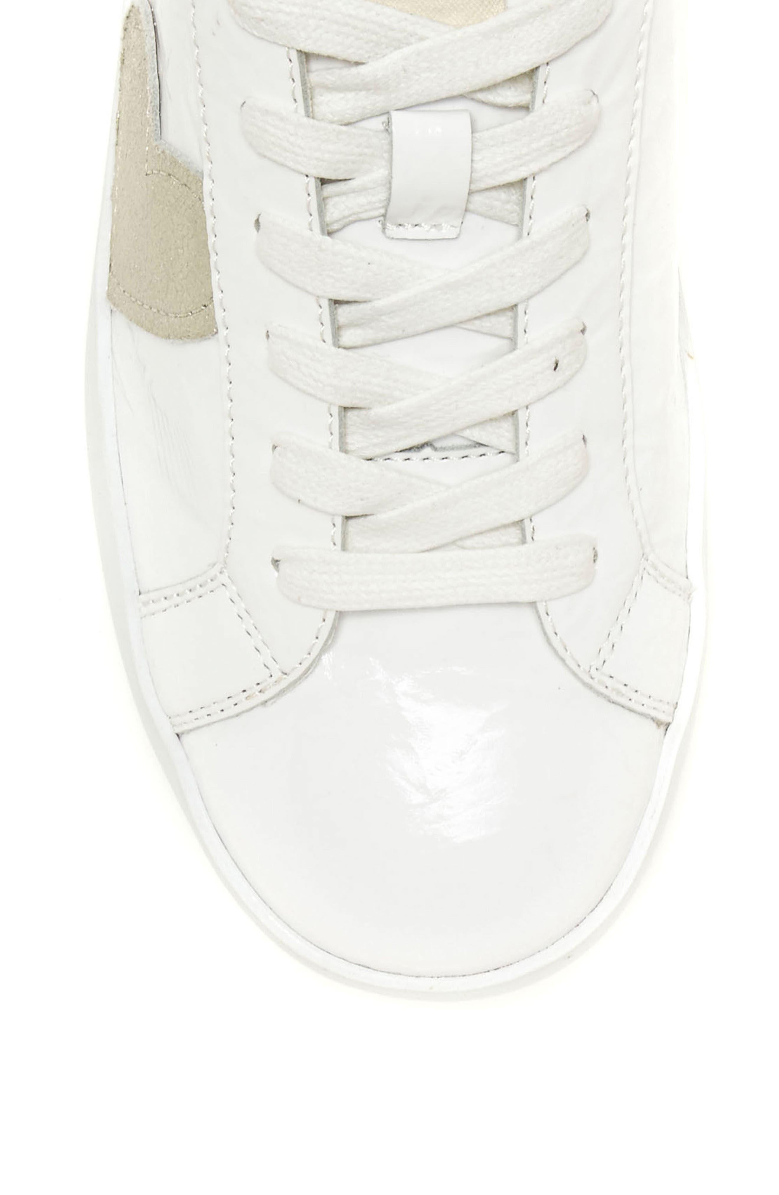 Gillen Sneaker,                             Alternate thumbnail 5, color,                             Pure White Crinkled Patent