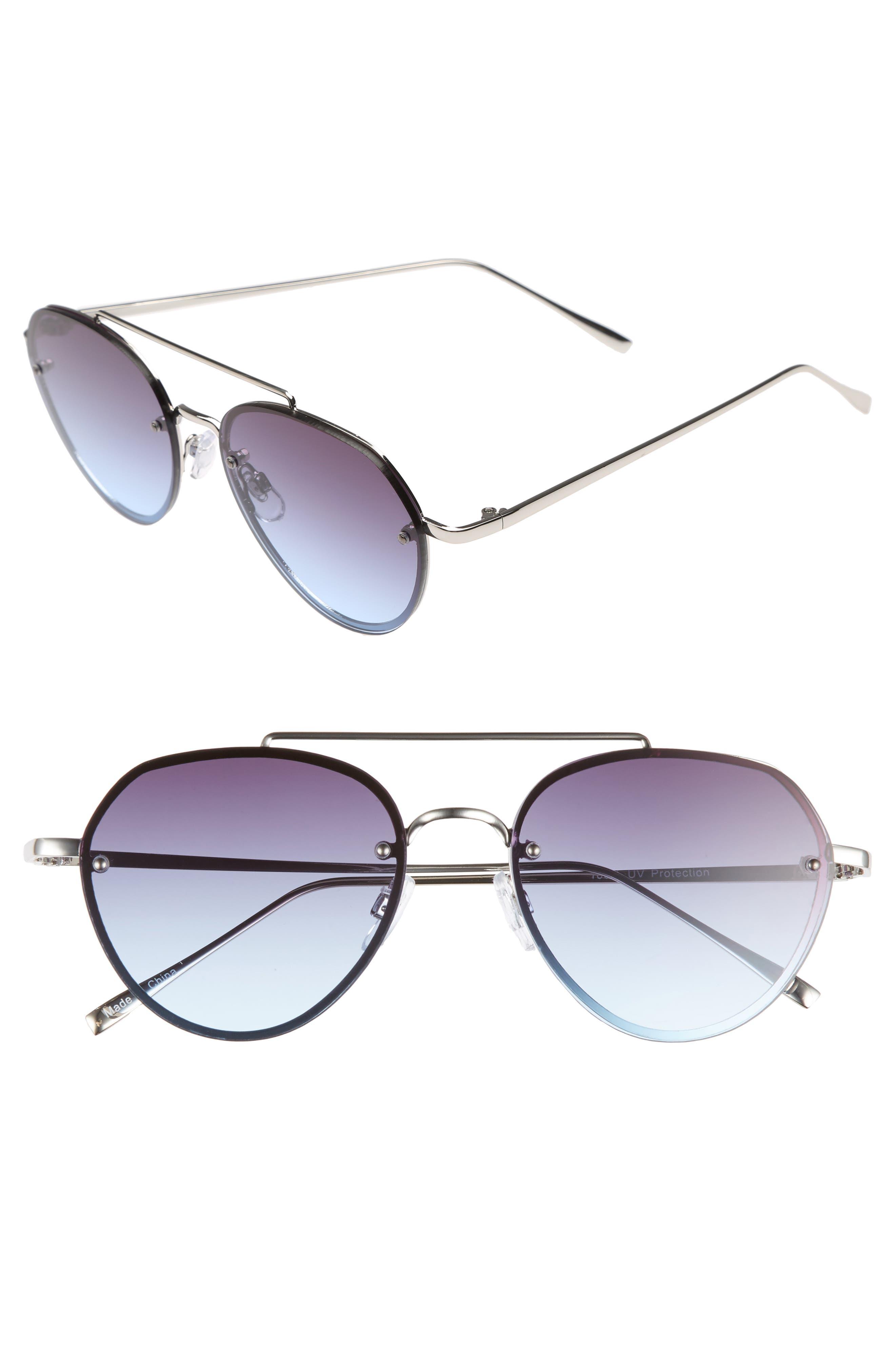 Main Image - BP. Gradient Petite Aviator Sunglasses