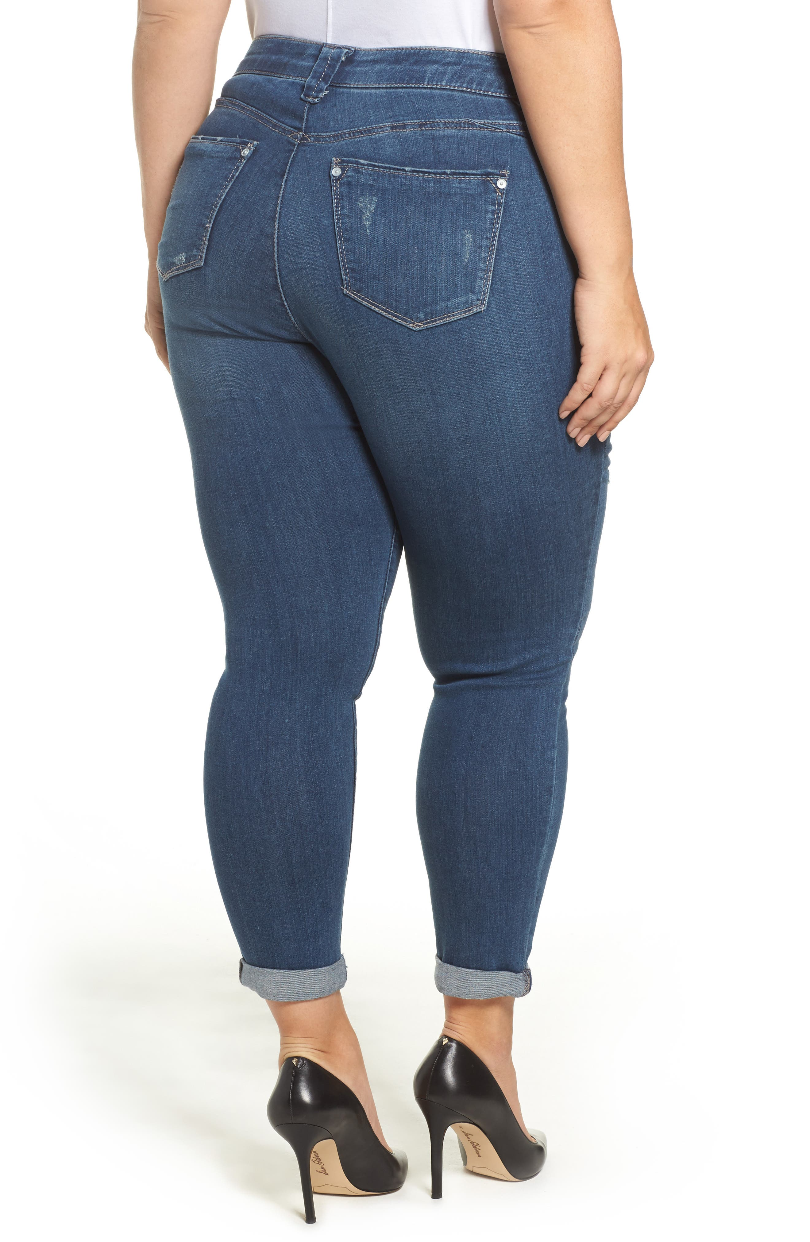 Alternate Image 2  - Wit & Wisdom Ab-solution Boyfriend Ankle Jeans (Plus Size) (Nordstrom Exclusive)