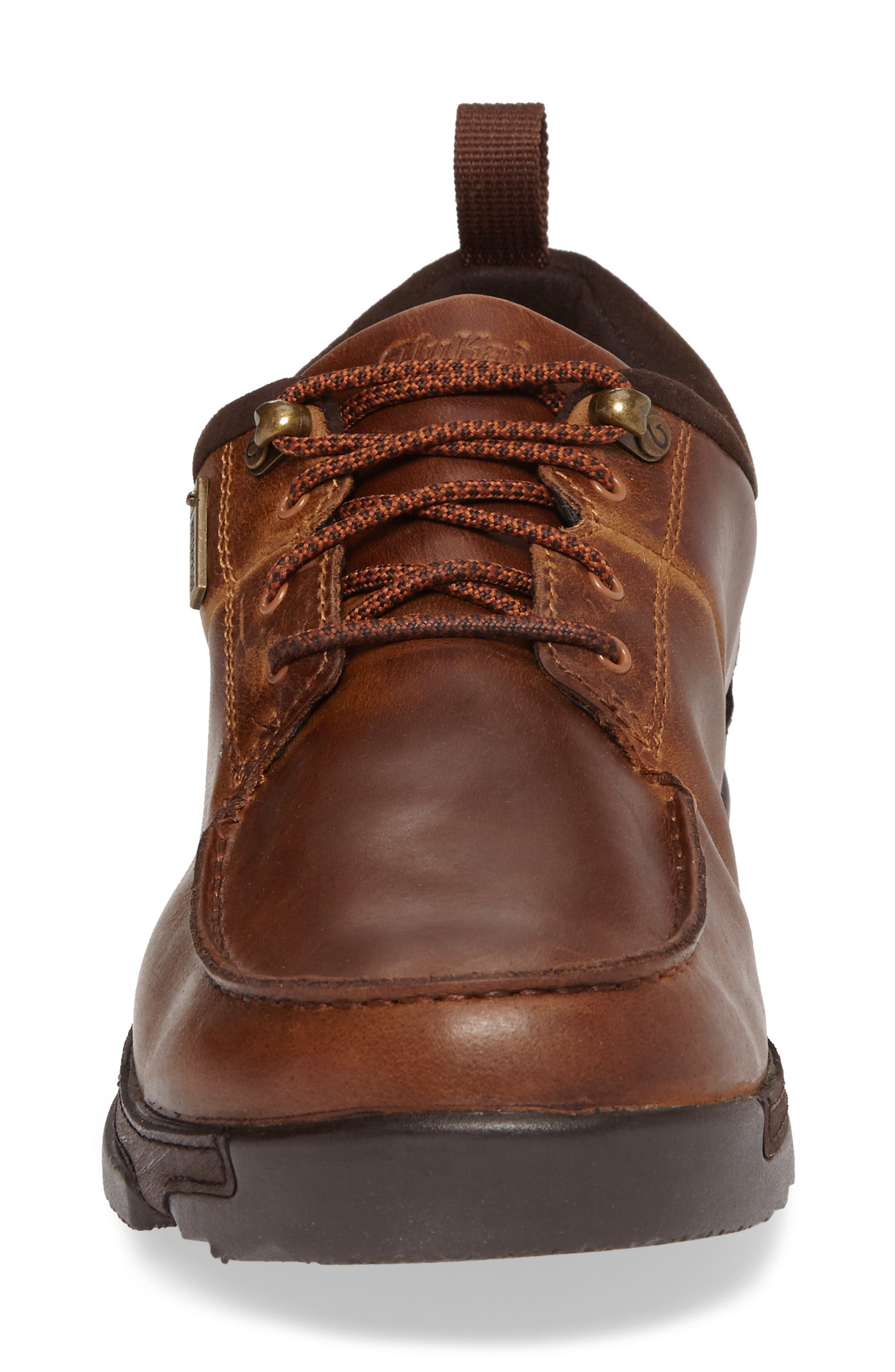 Makoa Waterproof Shoe,                             Alternate thumbnail 4, color,                             Fox/ Dark Wood Leather