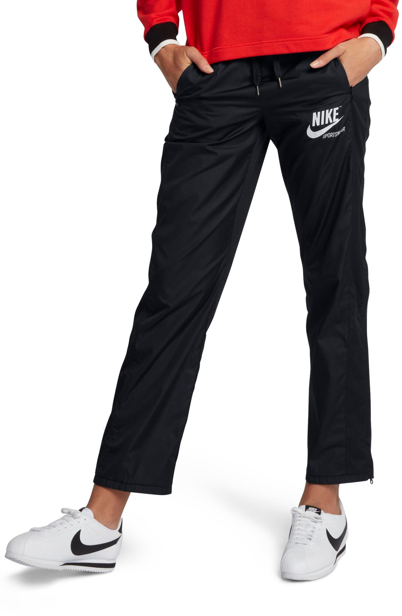Sportswear Women's Stretch Faille Pants,                         Main,                         color, Black