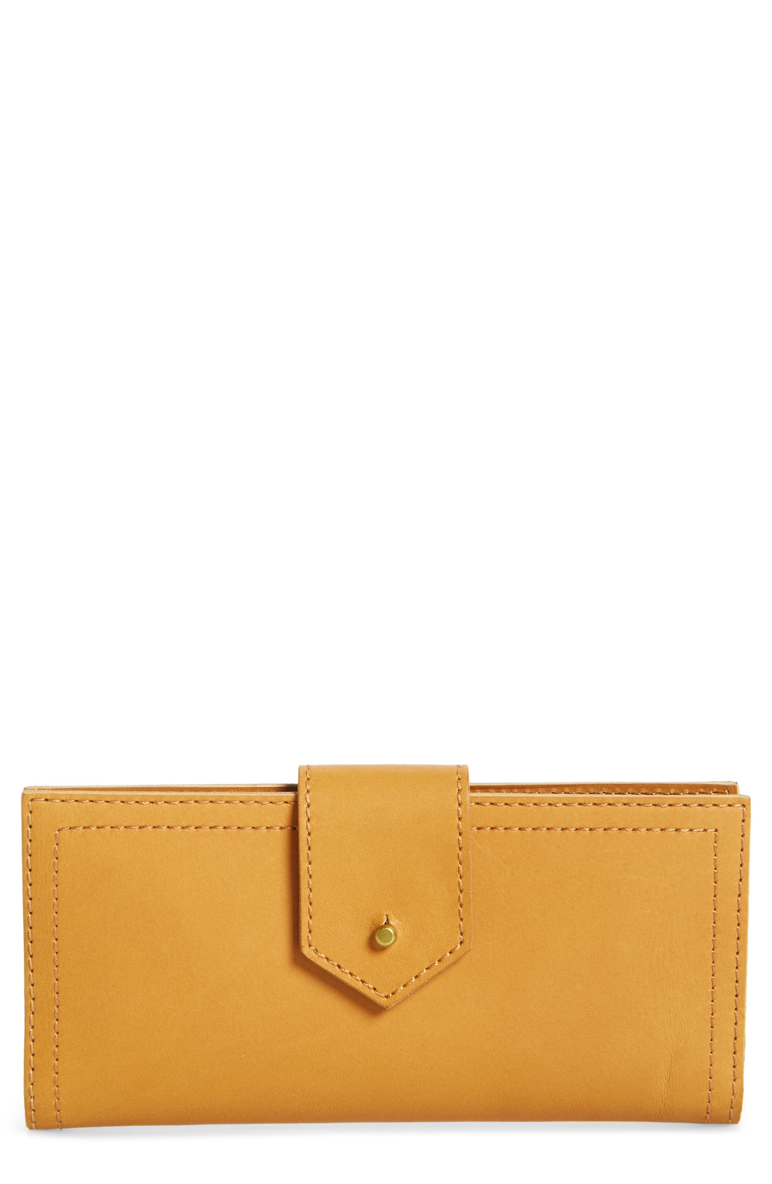 The Post Leather Wallet,                             Main thumbnail 1, color,                             Cider