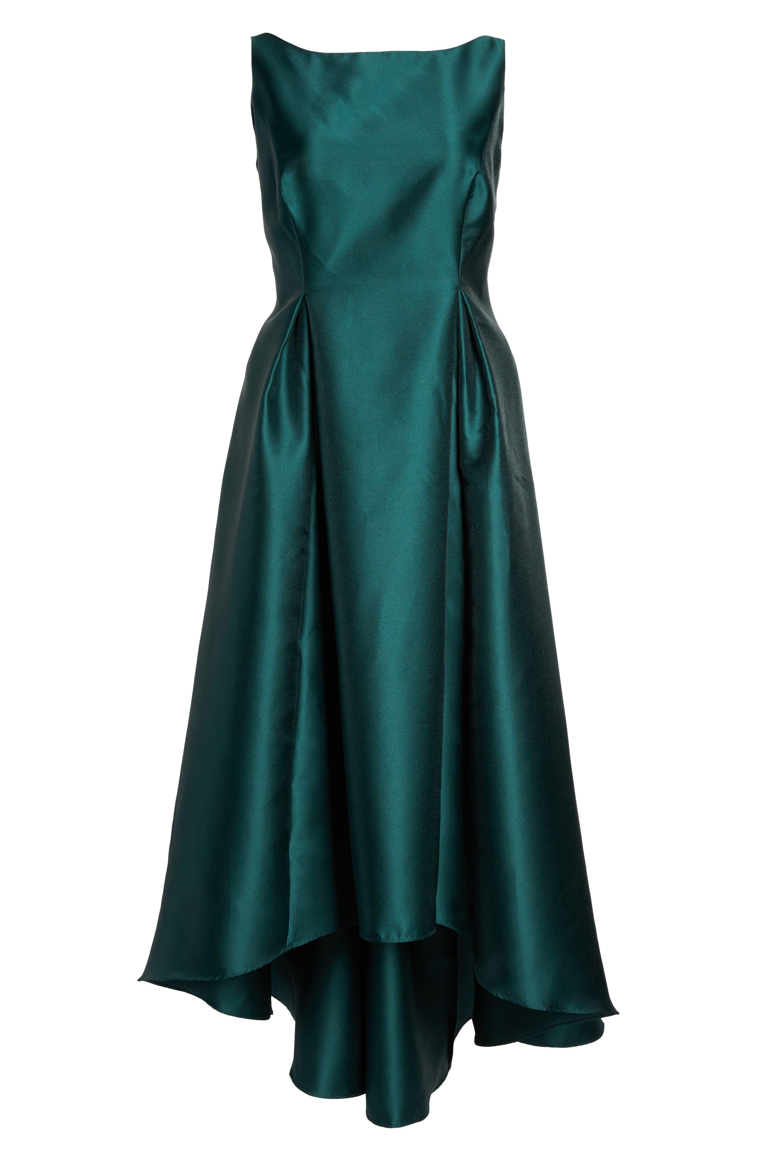Main Image - Adrianna Papell Arcadia Sleeveless High/Low Mikado Ballgown (Plus Size)