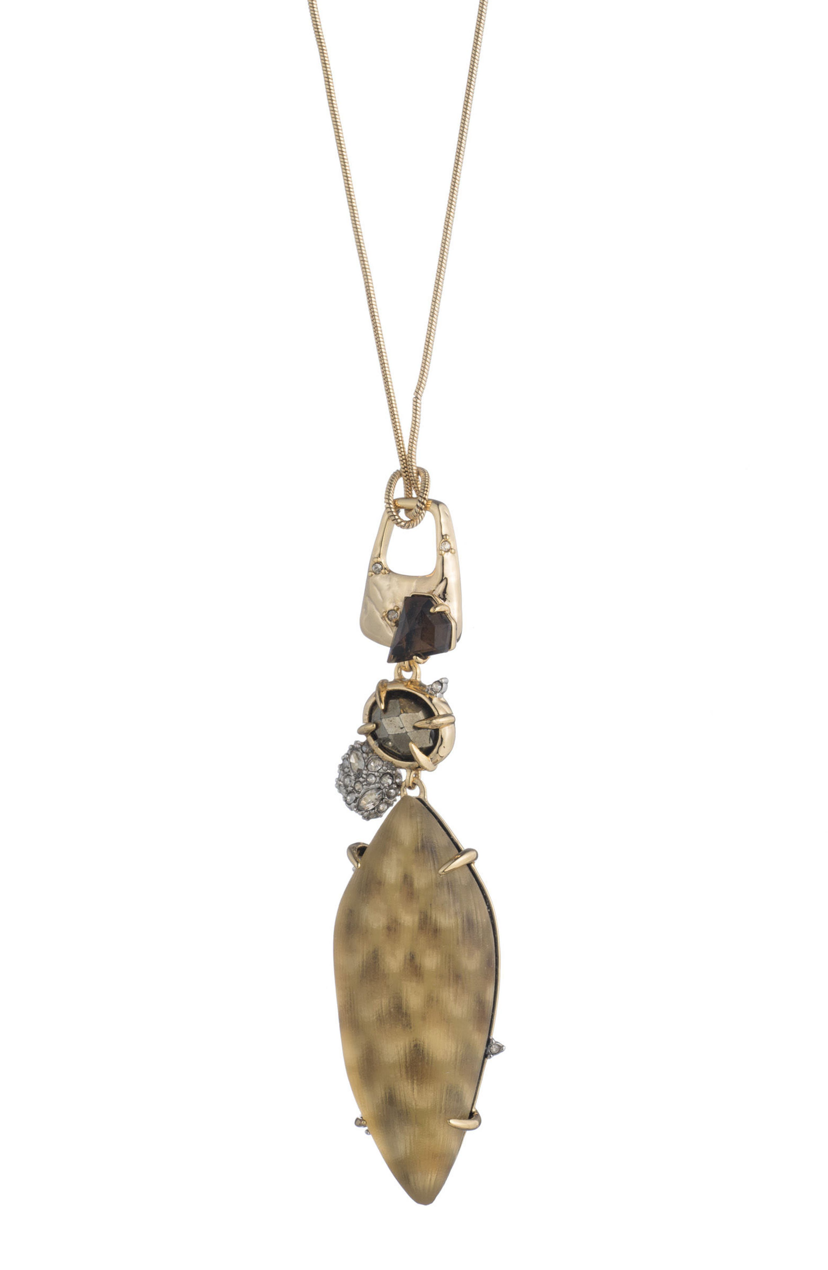 Pendant Necklace,                         Main,                         color, Gold Snake Print