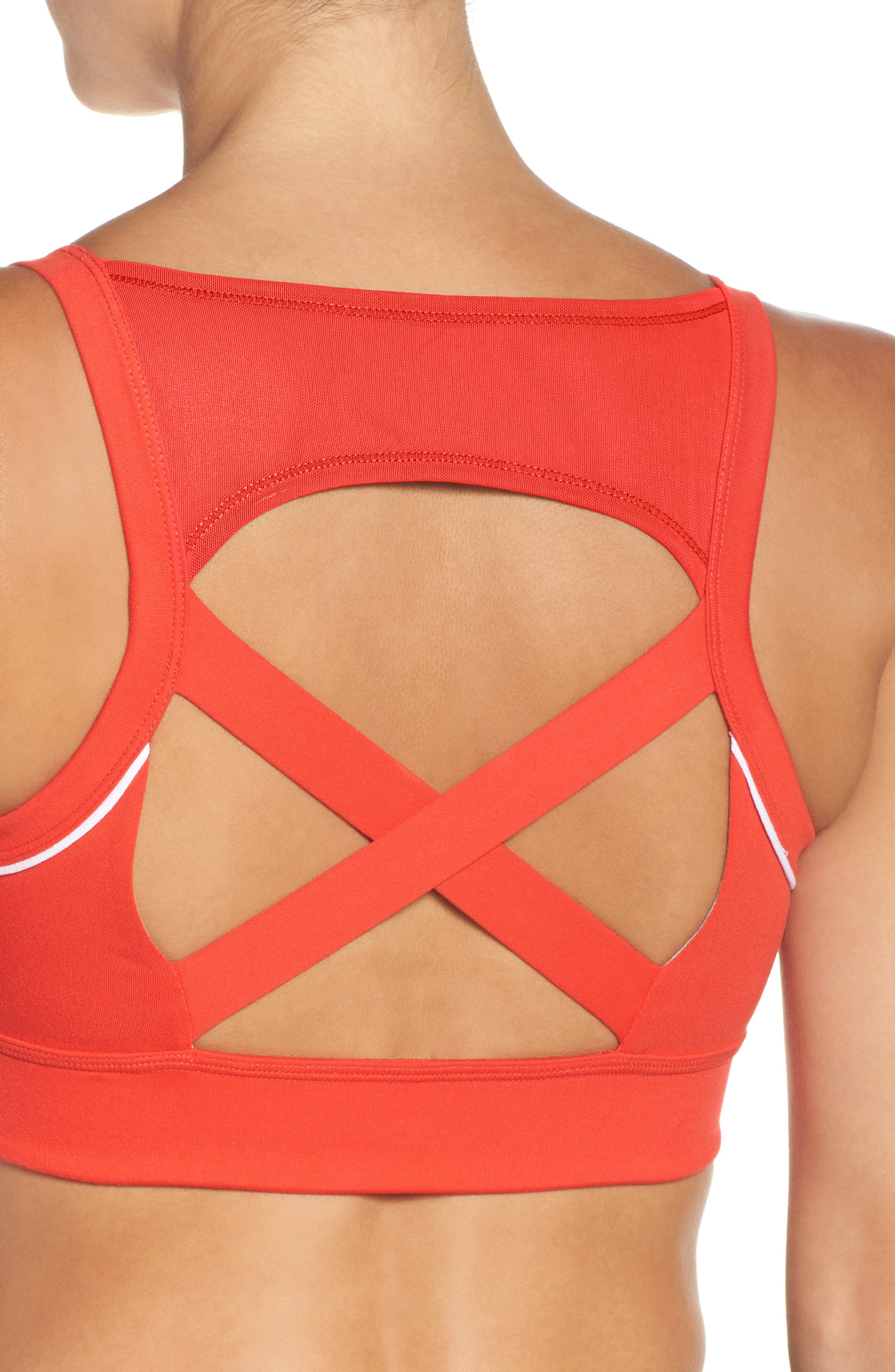 Harness Sports Bra,                             Alternate thumbnail 2, color,                             Red Fiery