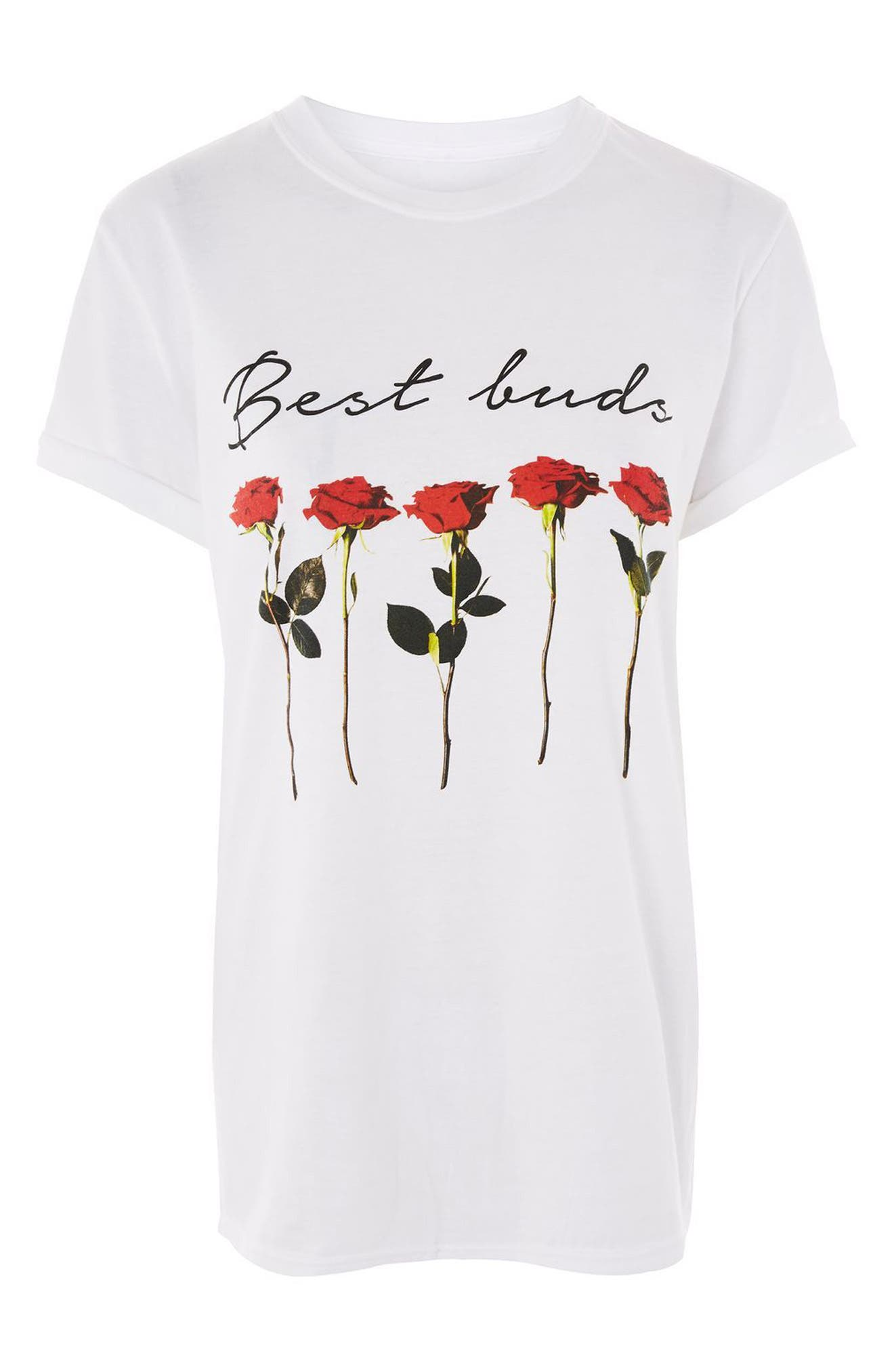 Alternate Image 4  - Topshop Best Buds Tee