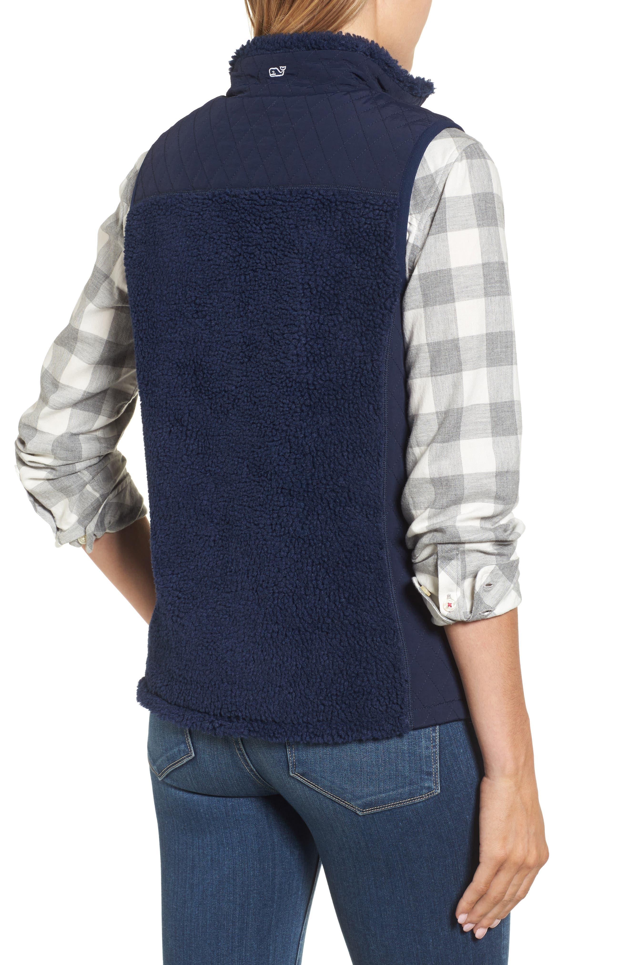 Reversible Quilted Plaid Vest,                             Alternate thumbnail 2, color,                             Deep Bay
