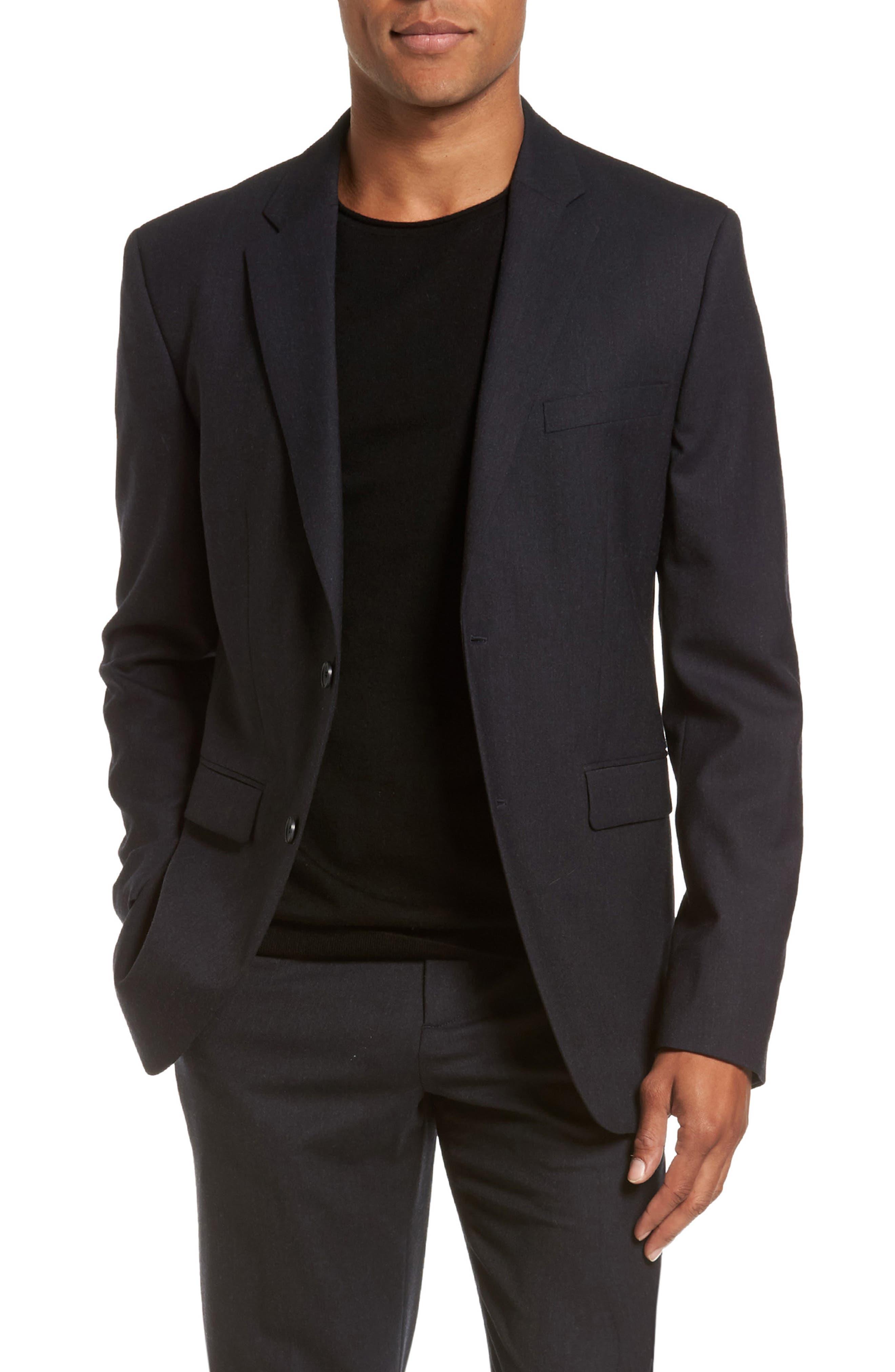 Regular Fit Blazer,                         Main,                         color, Charcoal
