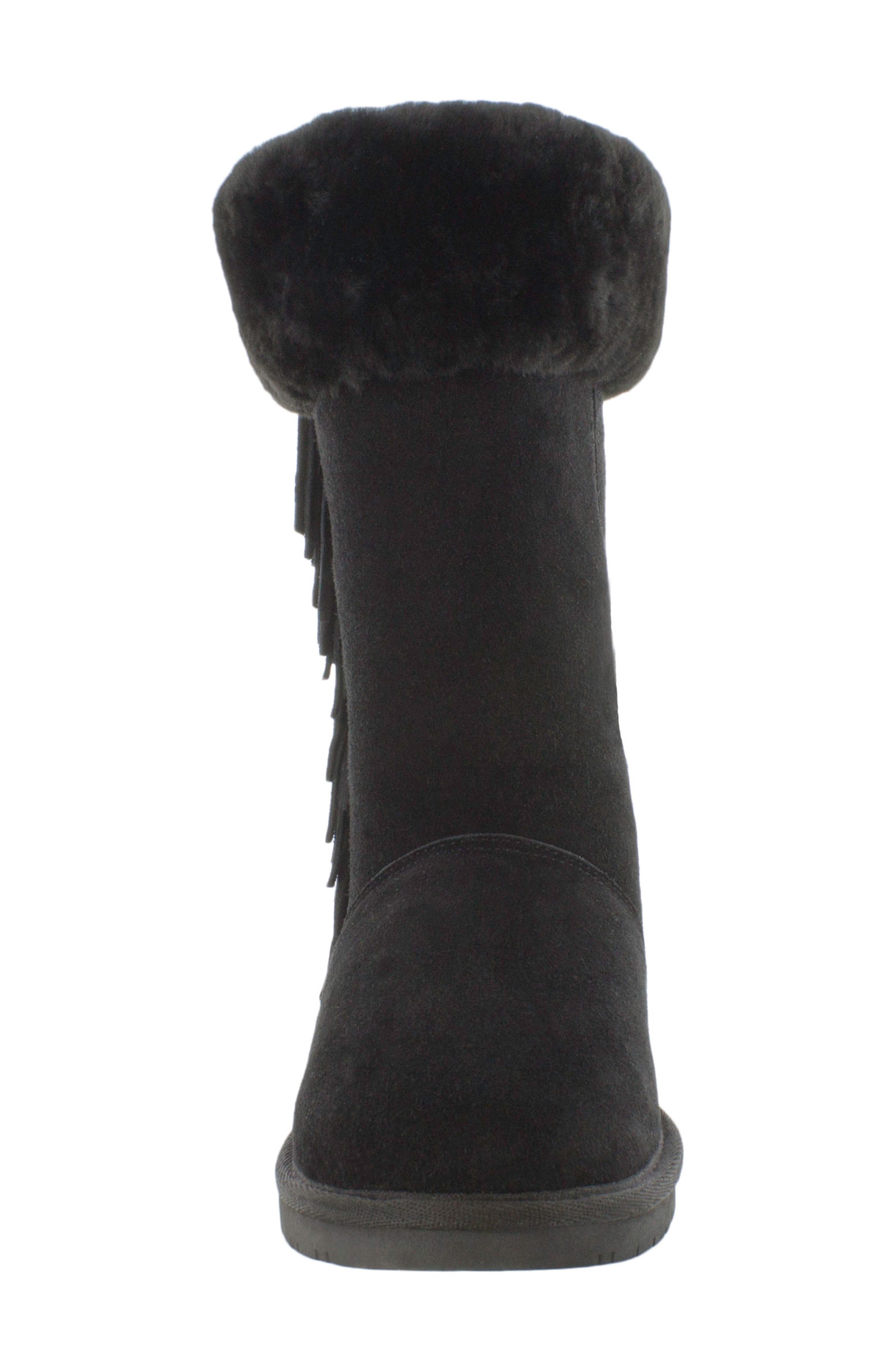 Canyon Genuine Shearling Trim Boot,                             Alternate thumbnail 3, color,                             Black