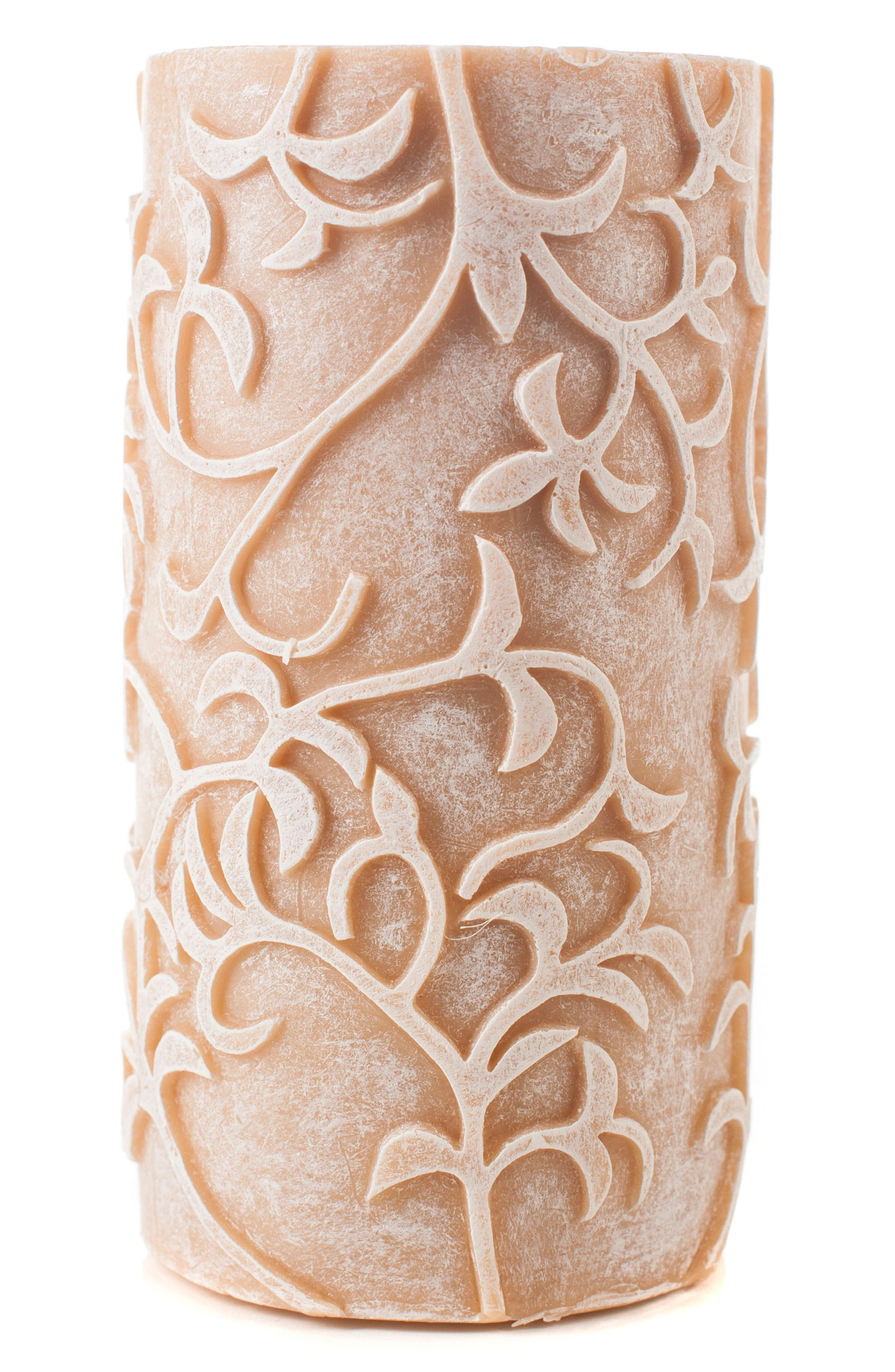 Amazing Flameless Candle Carved Vines Flameless Candle