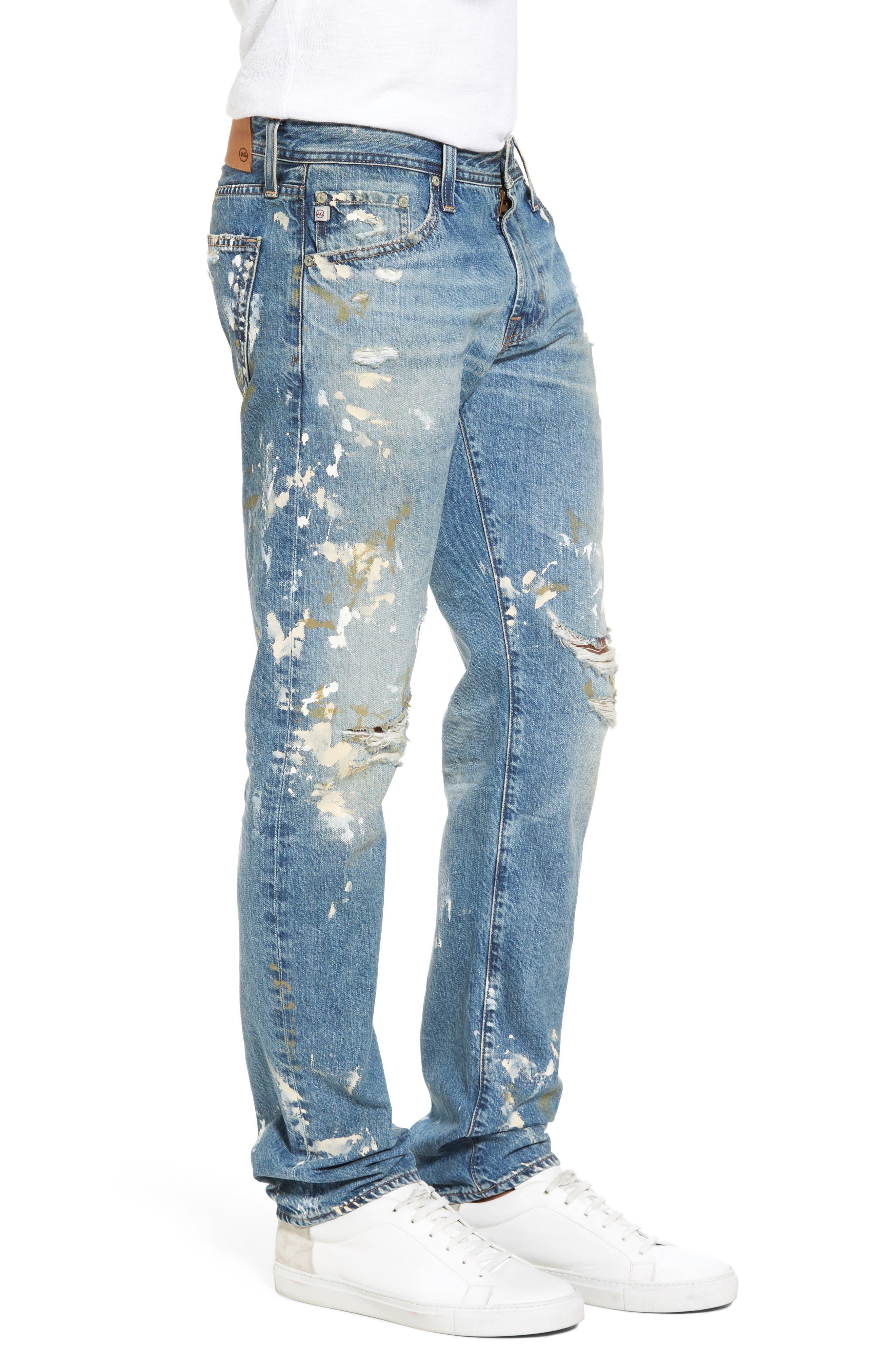 Tellis Modern Slim Fit Jeans,                             Alternate thumbnail 3, color,                             18 Years Carpenter