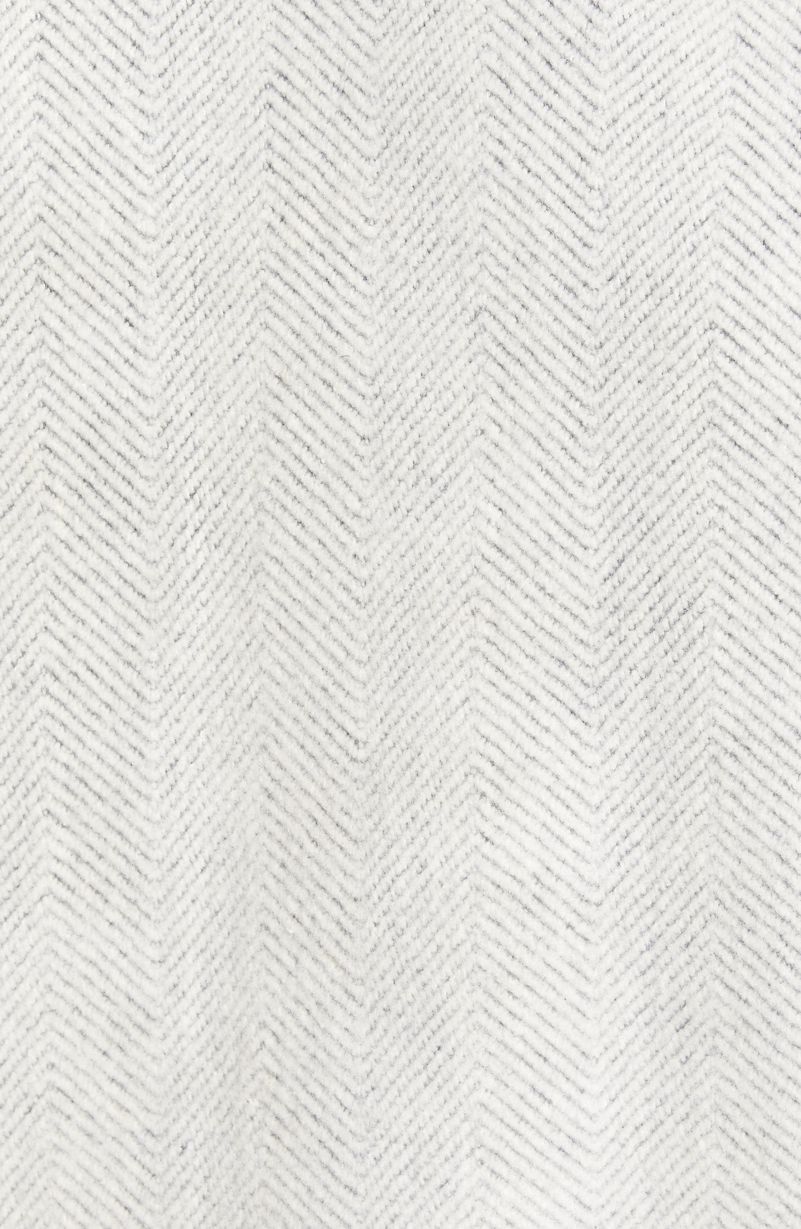 Brushed Fleece Sweatshirt,                             Alternate thumbnail 5, color,                             Ivory Egret